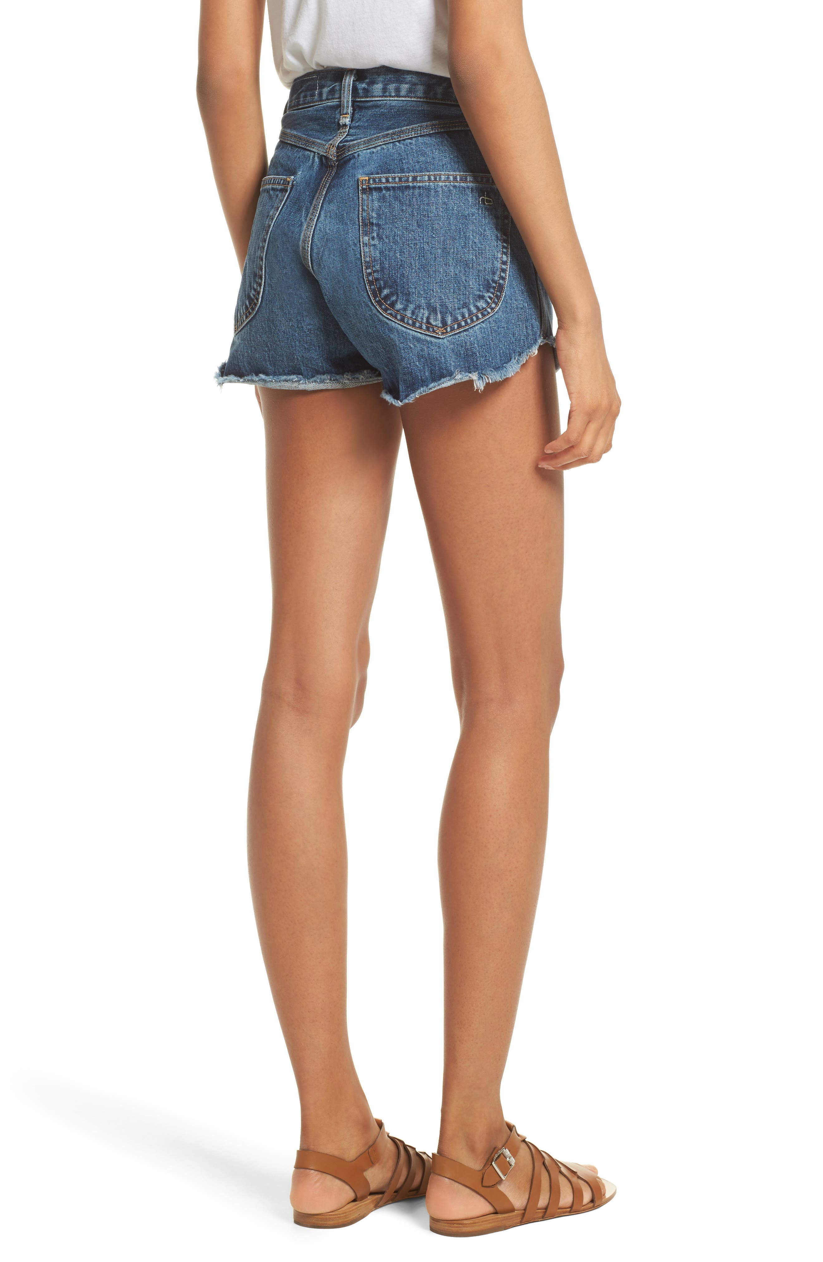 Alternate Image 2  - rag & bone/JEAN Lou High Waist Cutoff Denim Shorts