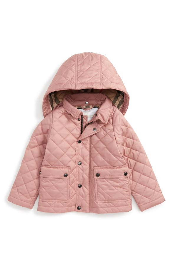 Burberry Jamie Quilted Hooded Puffer Jacket (Baby Girls) | Nordstrom : quilted baby coat - Adamdwight.com