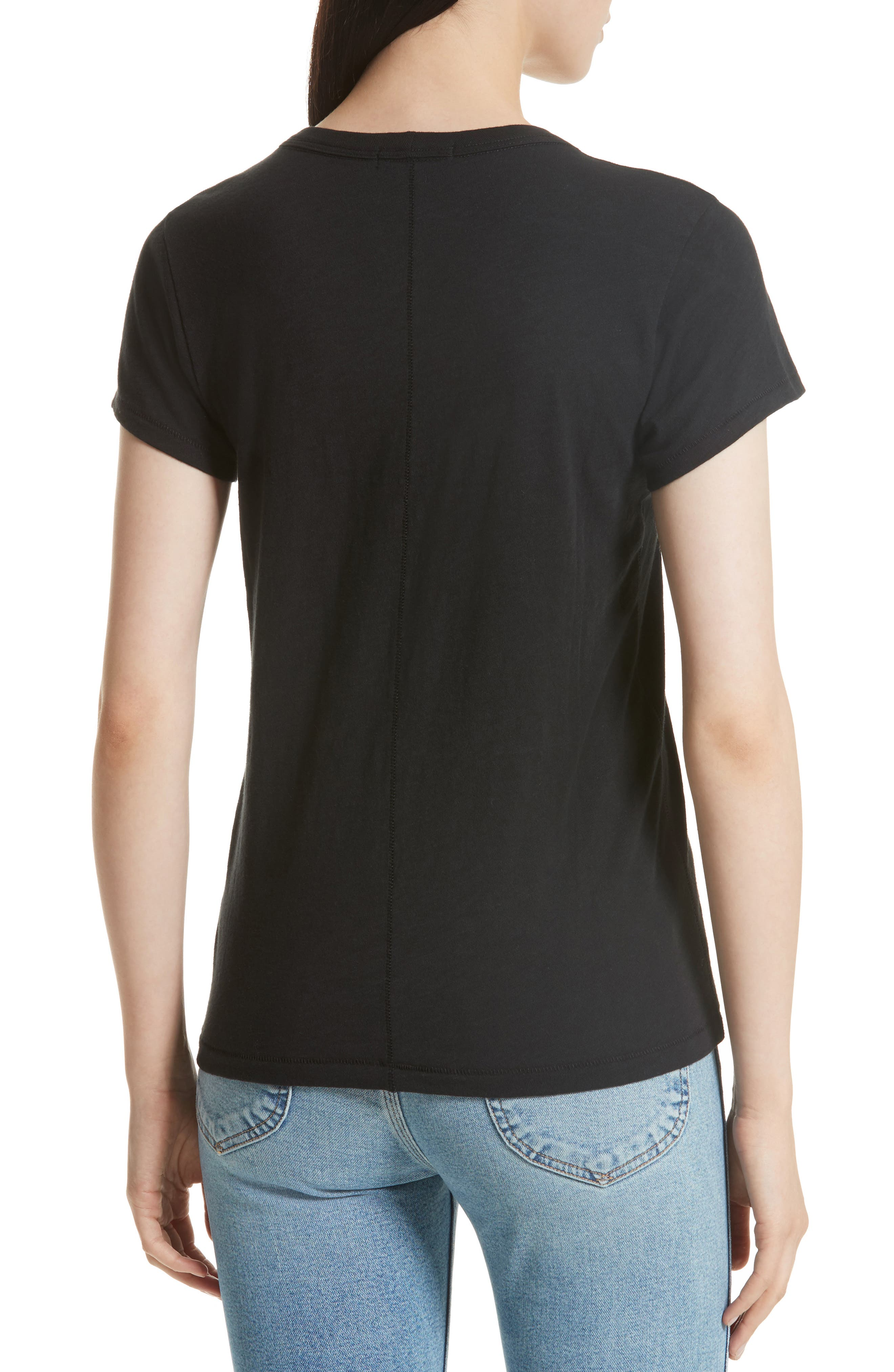 Easy Graphic Tee,                             Alternate thumbnail 2, color,                             Black