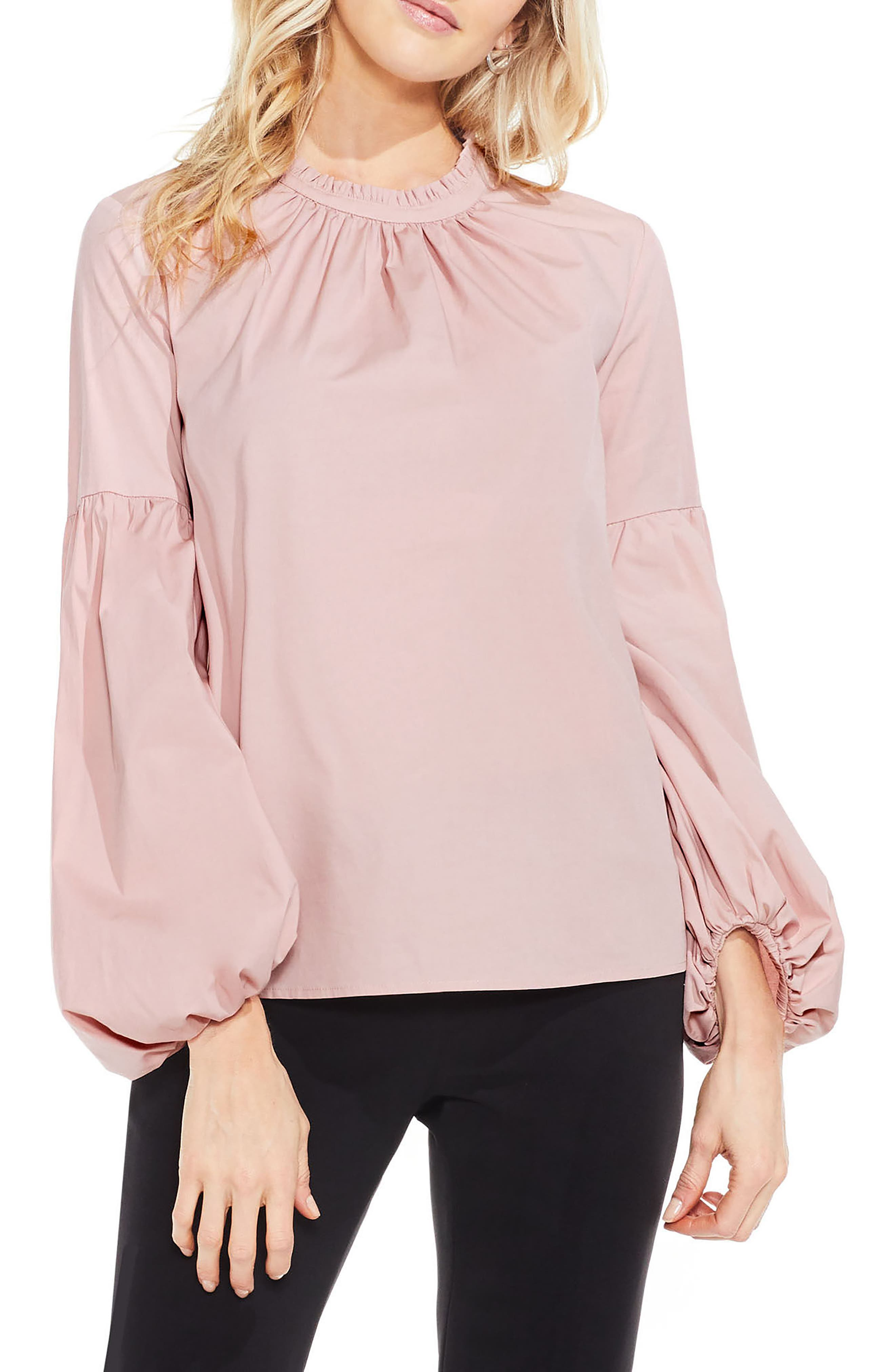 Vince Camuto Balloon Sleeve Blouse (Regular & Petite)