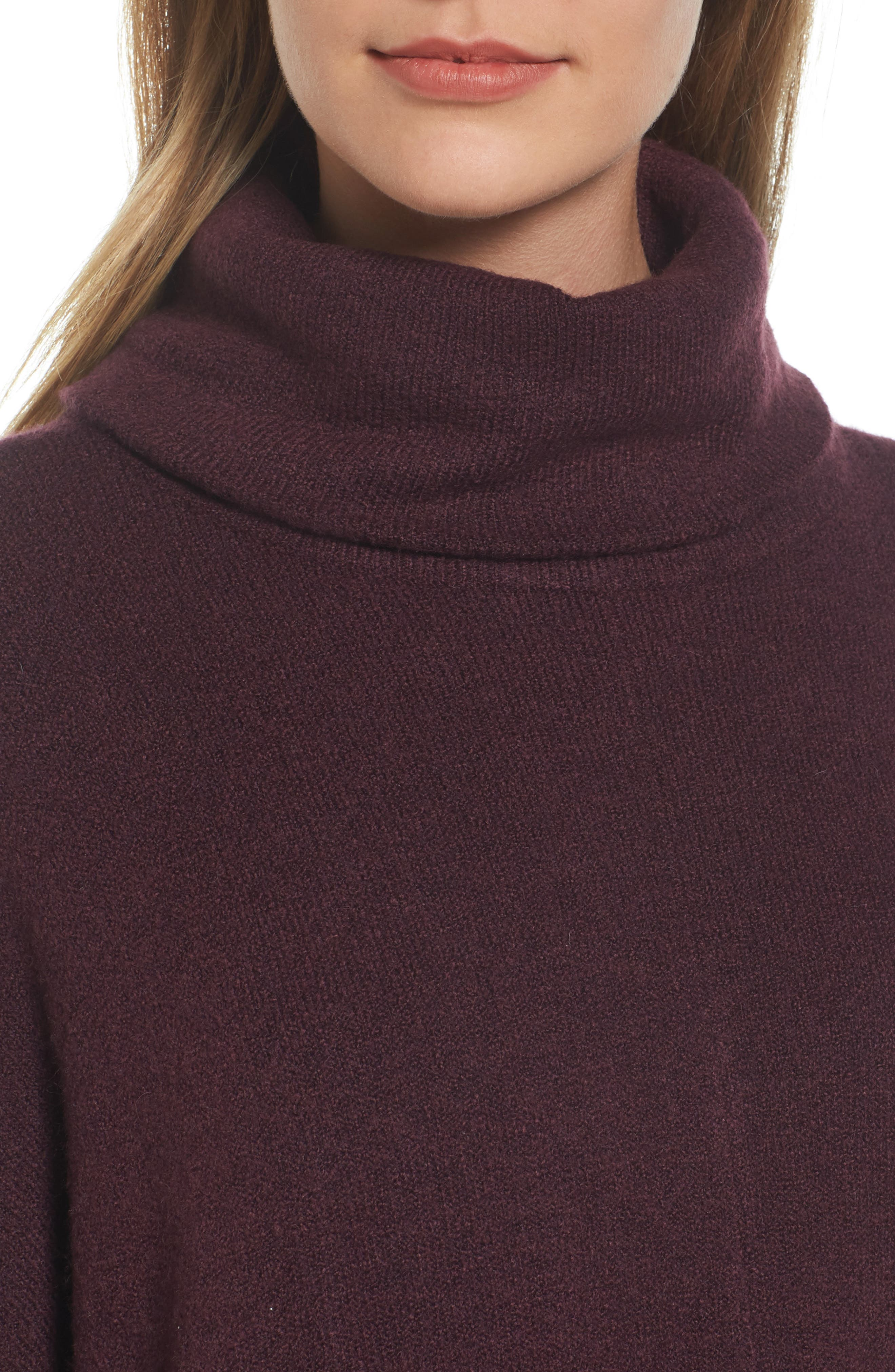 Alternate Image 4  - Caslon® Cowl Neck Sweater Poncho (Regular & Petite)