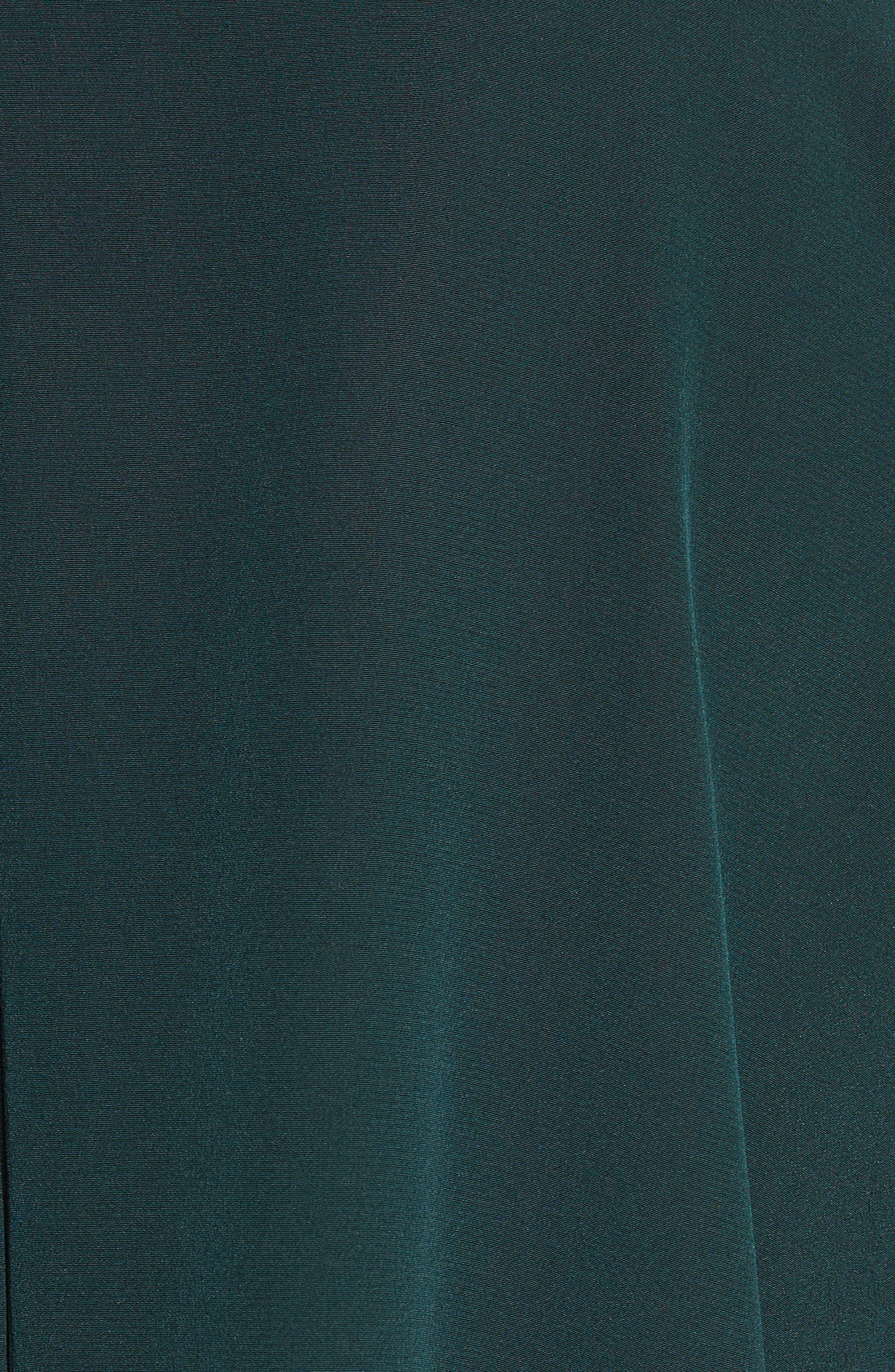 Merino Wool & Silk Bell Sleeve Pullover,                             Alternate thumbnail 5, color,                             Dark Green