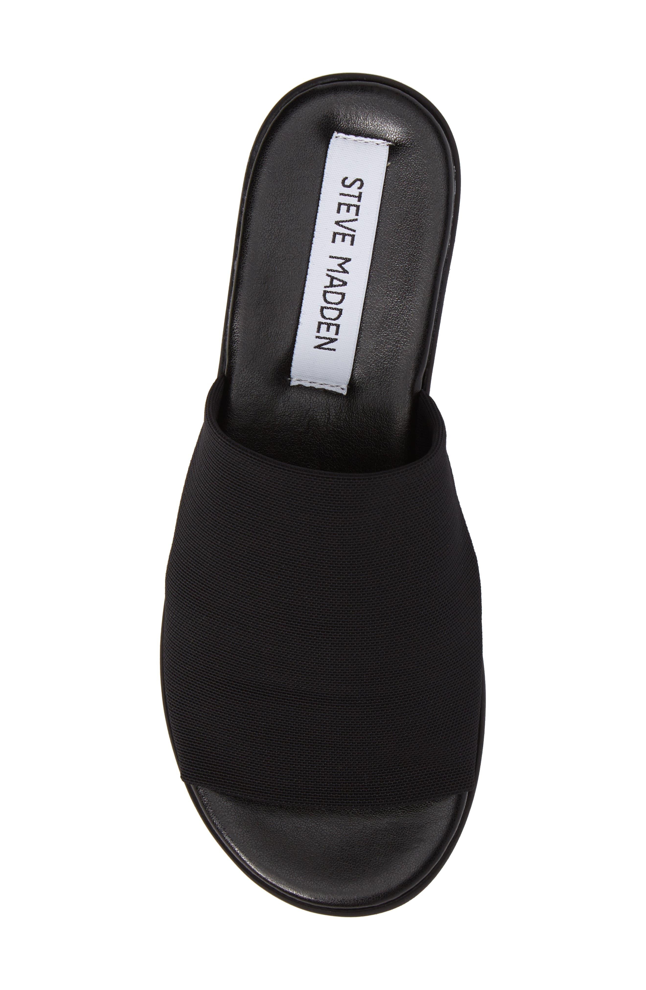 Jslinky Platform Slide Sandal,                             Alternate thumbnail 5, color,                             Black