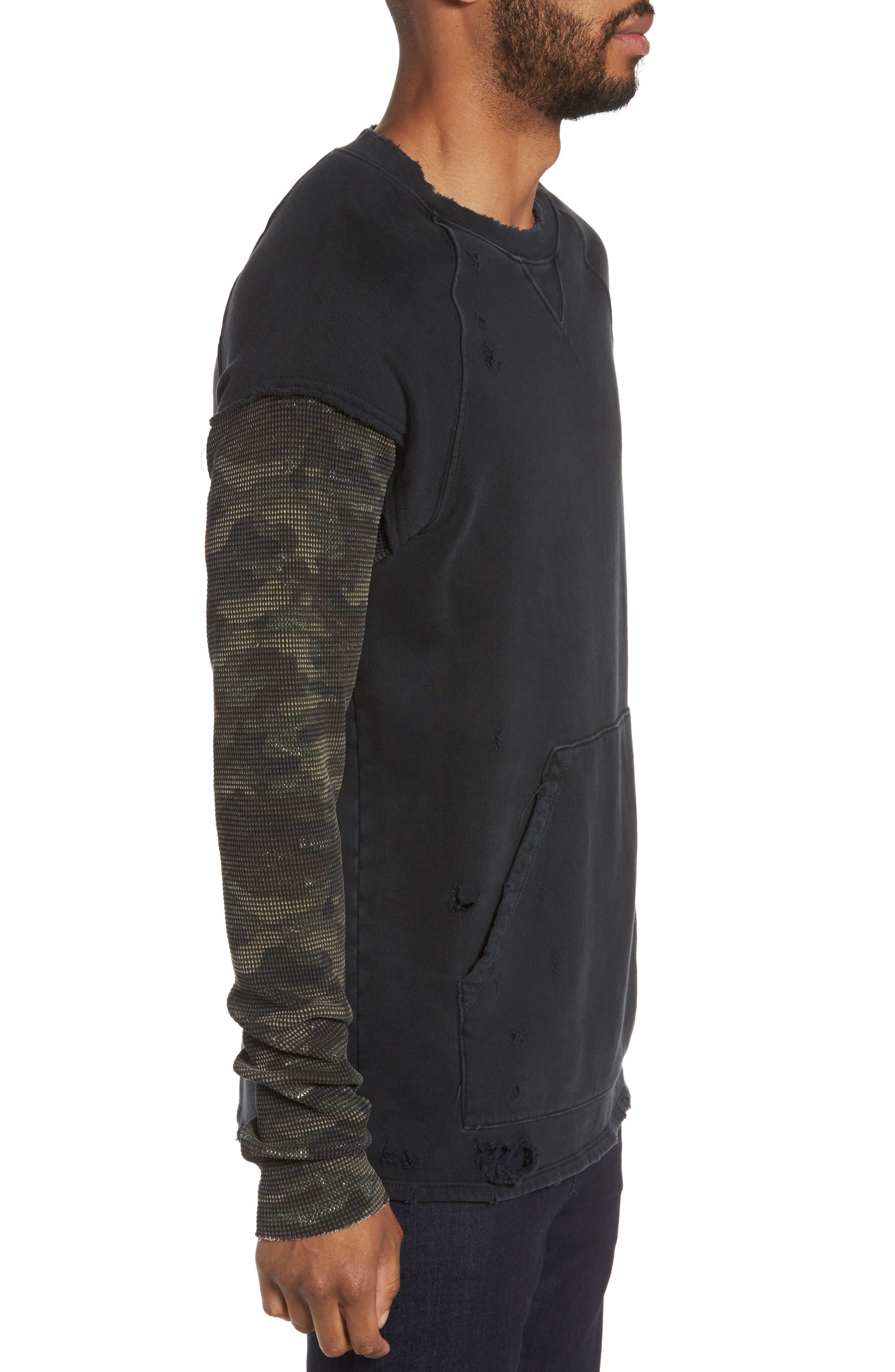 Alternate Image 3  - Hudson Jeans Striker Slim Fit Crewneck Sweatshirt