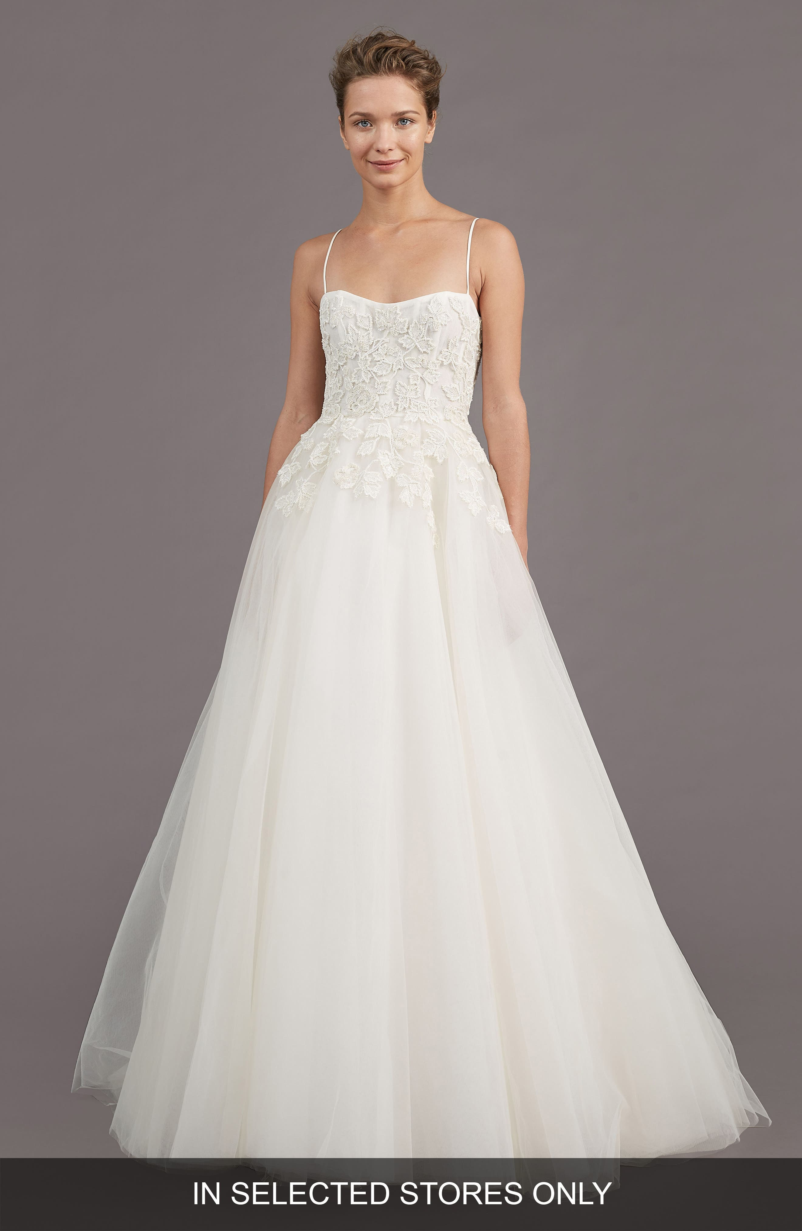 Holland Embellished A-Line Gown,                         Main,                         color, Ivory