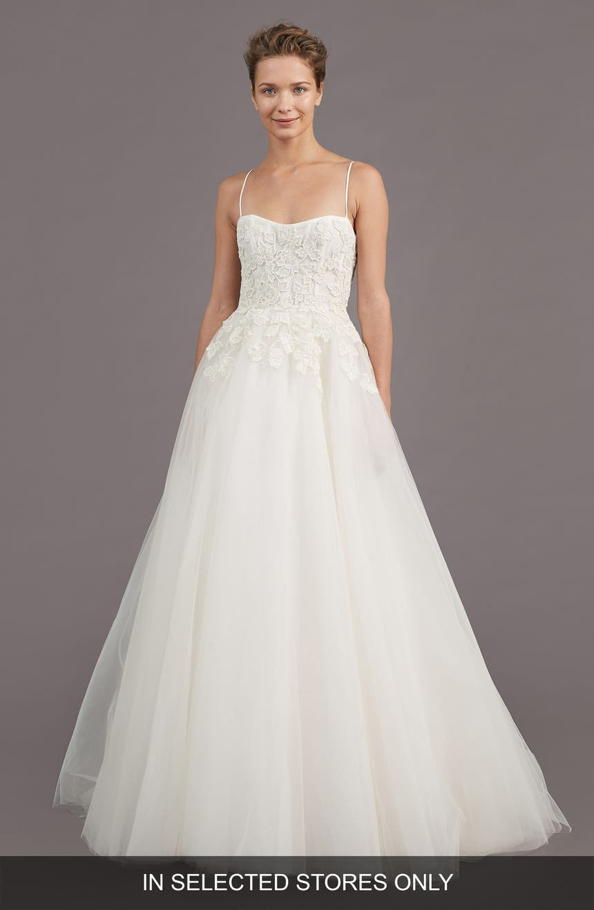 Amsale bridesmaid dresses nordstrom amsale holland embellished a line gown ombrellifo Choice Image