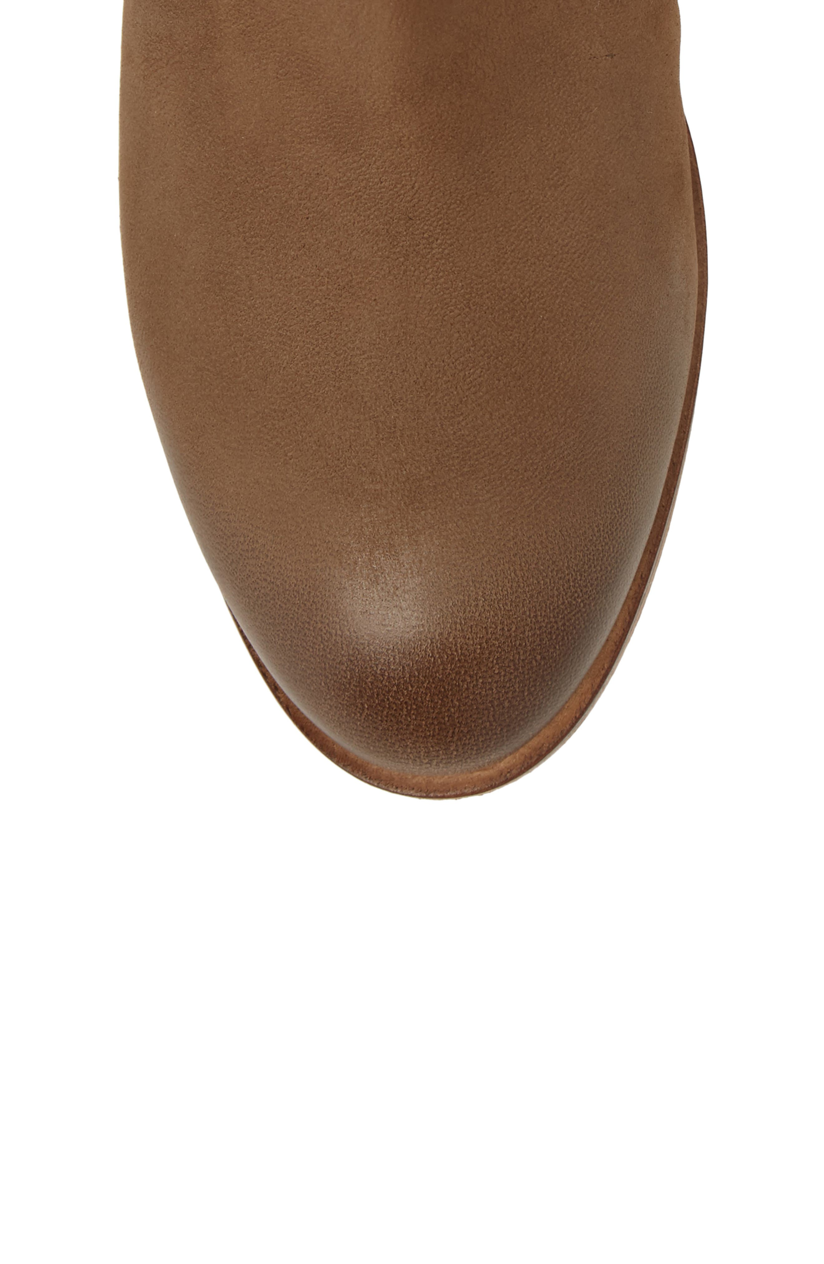 Yuma Bootie,                             Alternate thumbnail 5, color,                             Cognac Washed Nubuck Leather