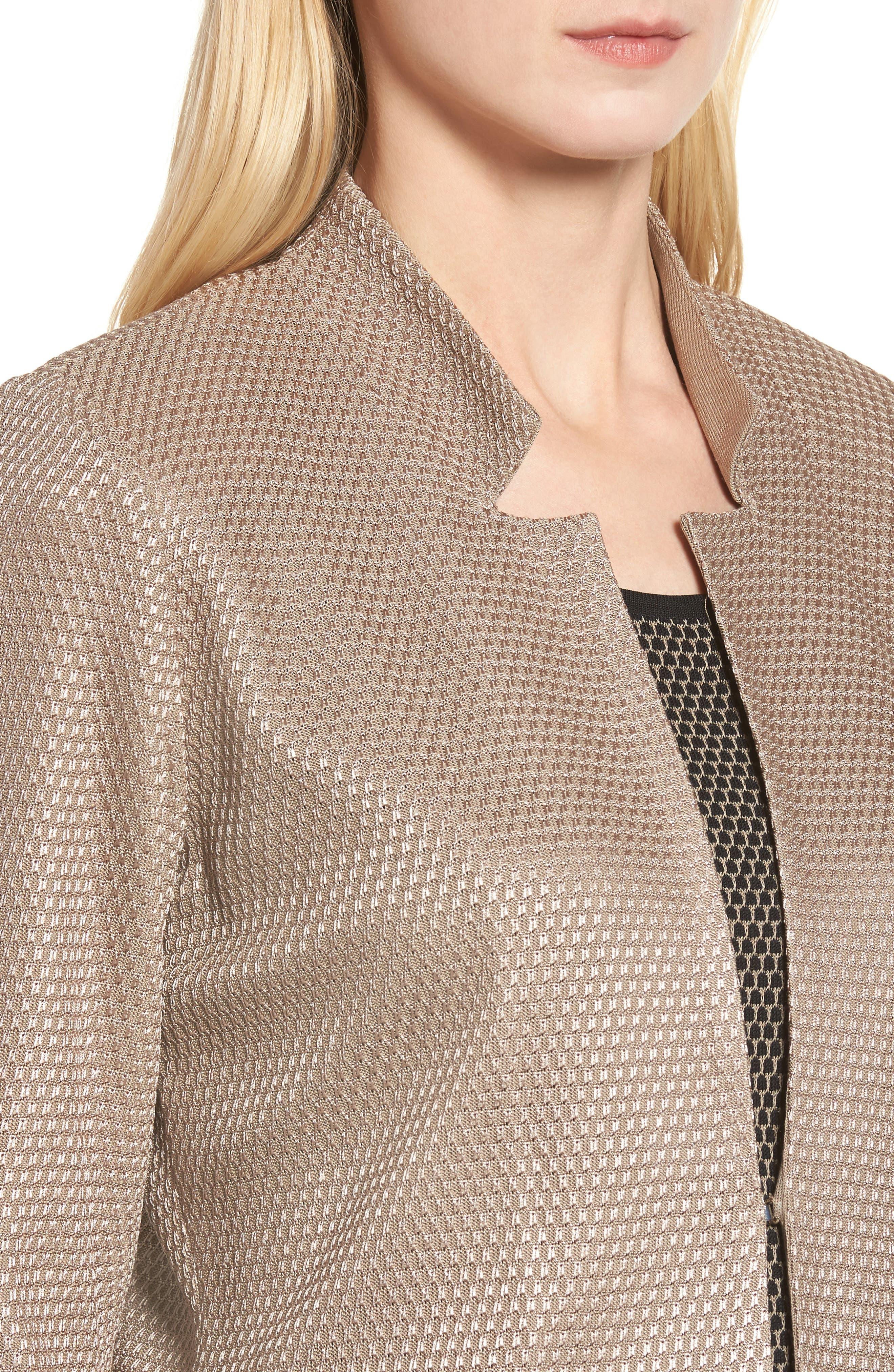 Alternate Image 4  - Ming Wang Textured Knit Jacket