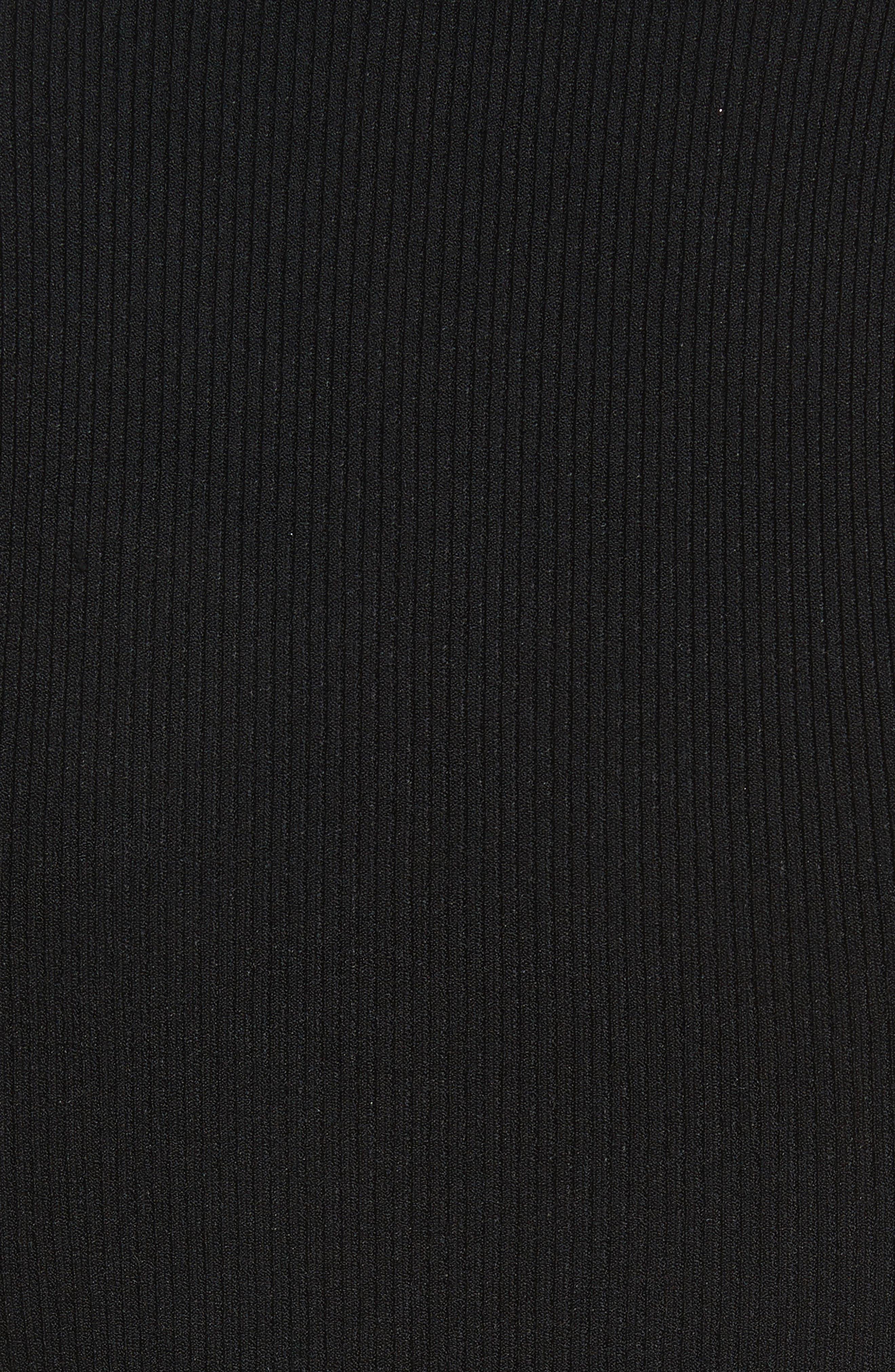 Turtleneck Tube Pulllover,                             Alternate thumbnail 5, color,                             Black