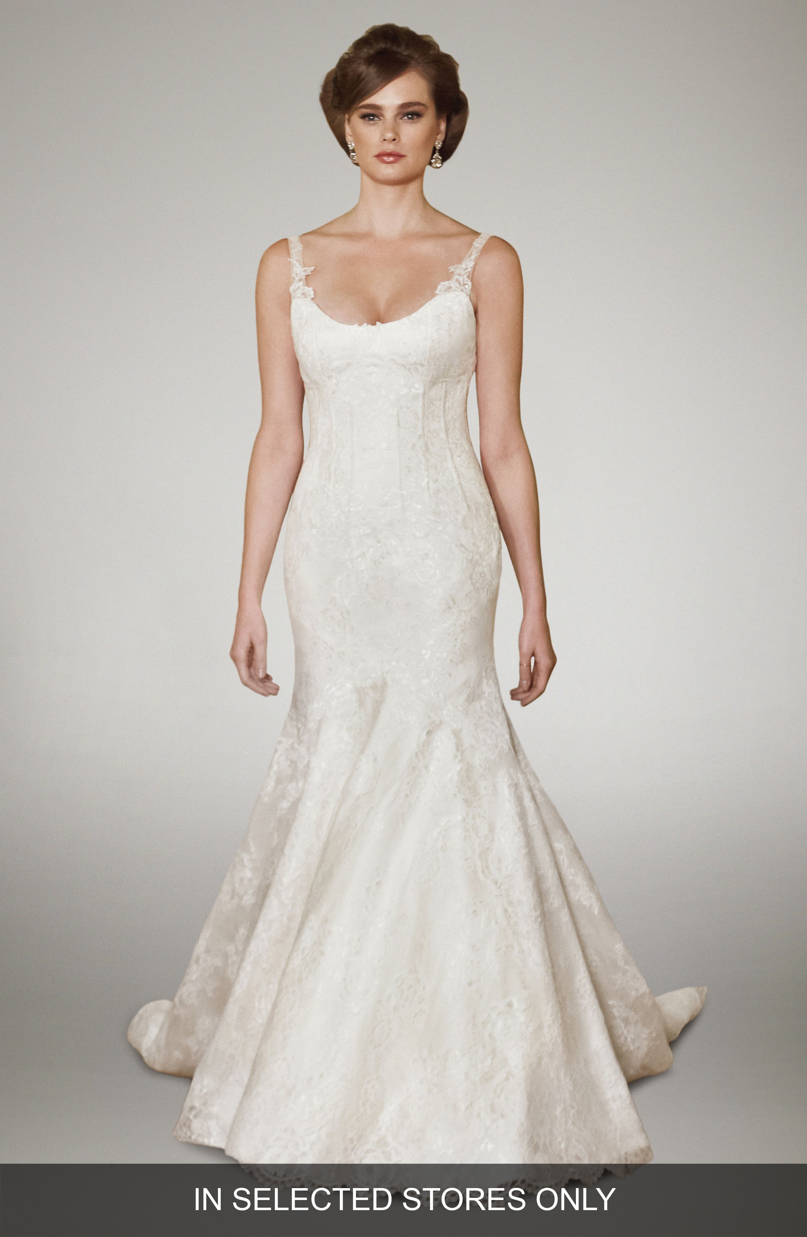 Matthew Christopher Camber Chantilly Lace Trumpet Gown (In Stores Only)