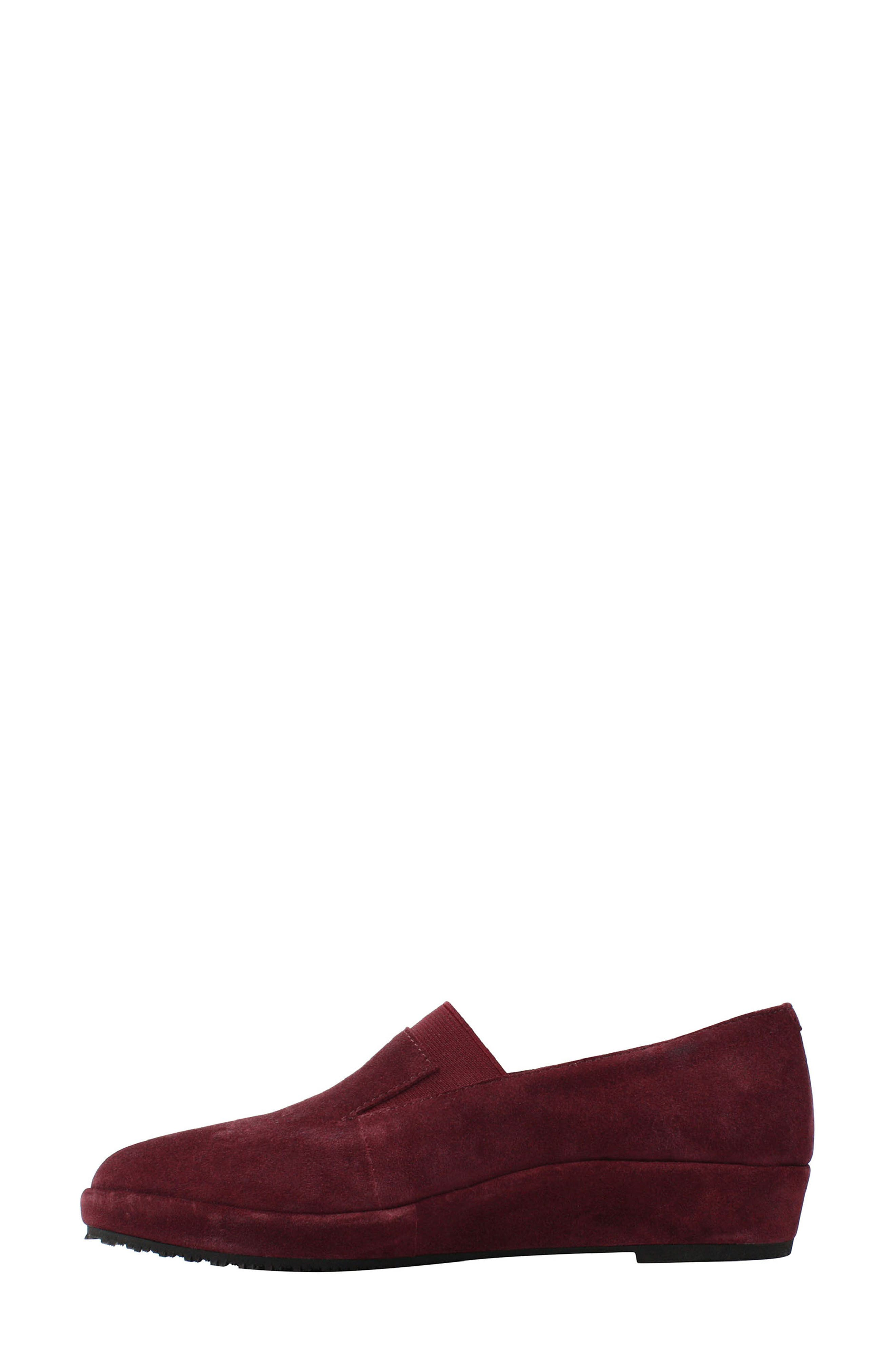 Corrine Slip-On,                             Alternate thumbnail 2, color,                             Mulberry Suede