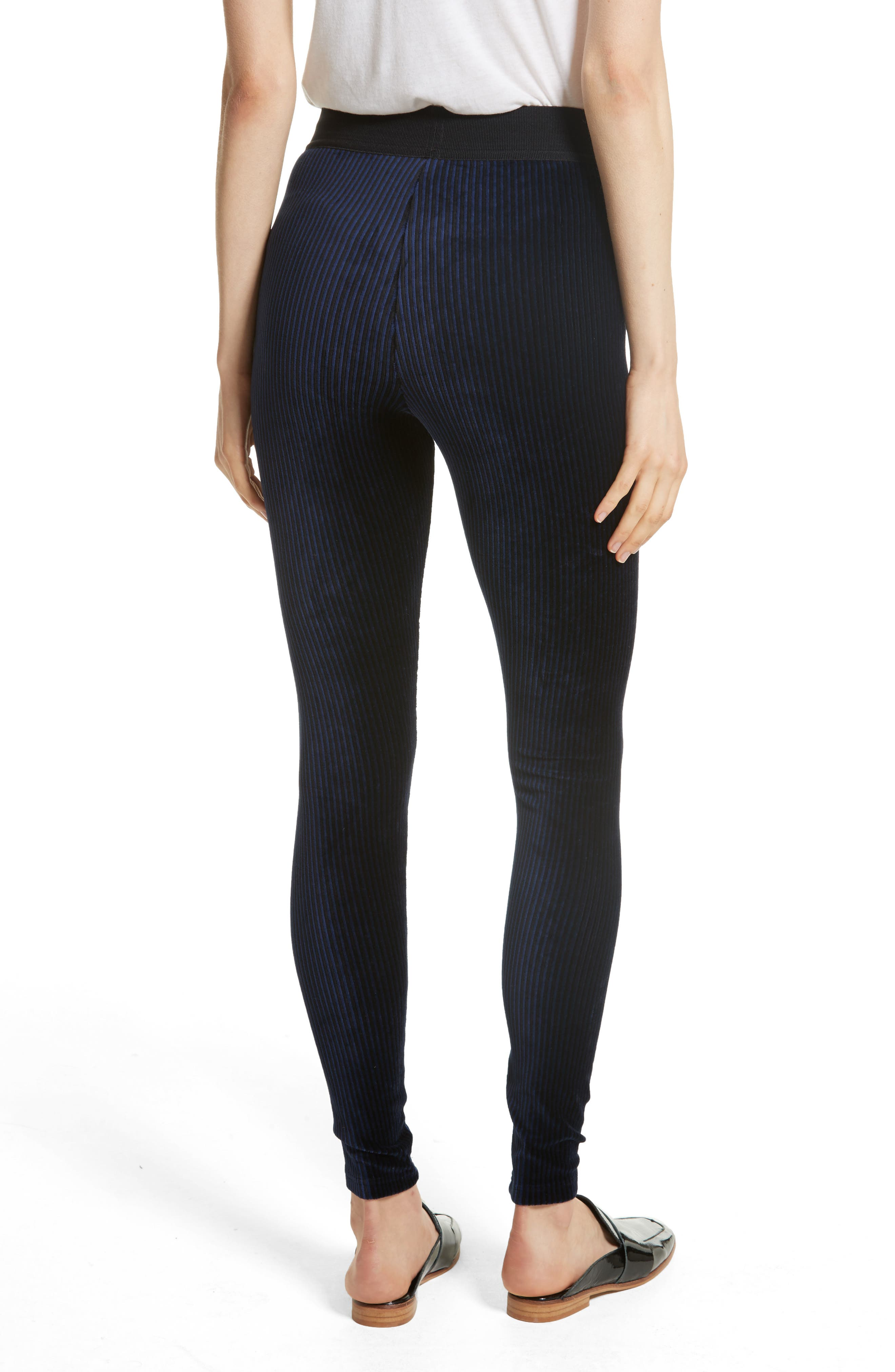 Alternate Image 2  - Free People Here We Go High Waist Stripe Velvet Leggings