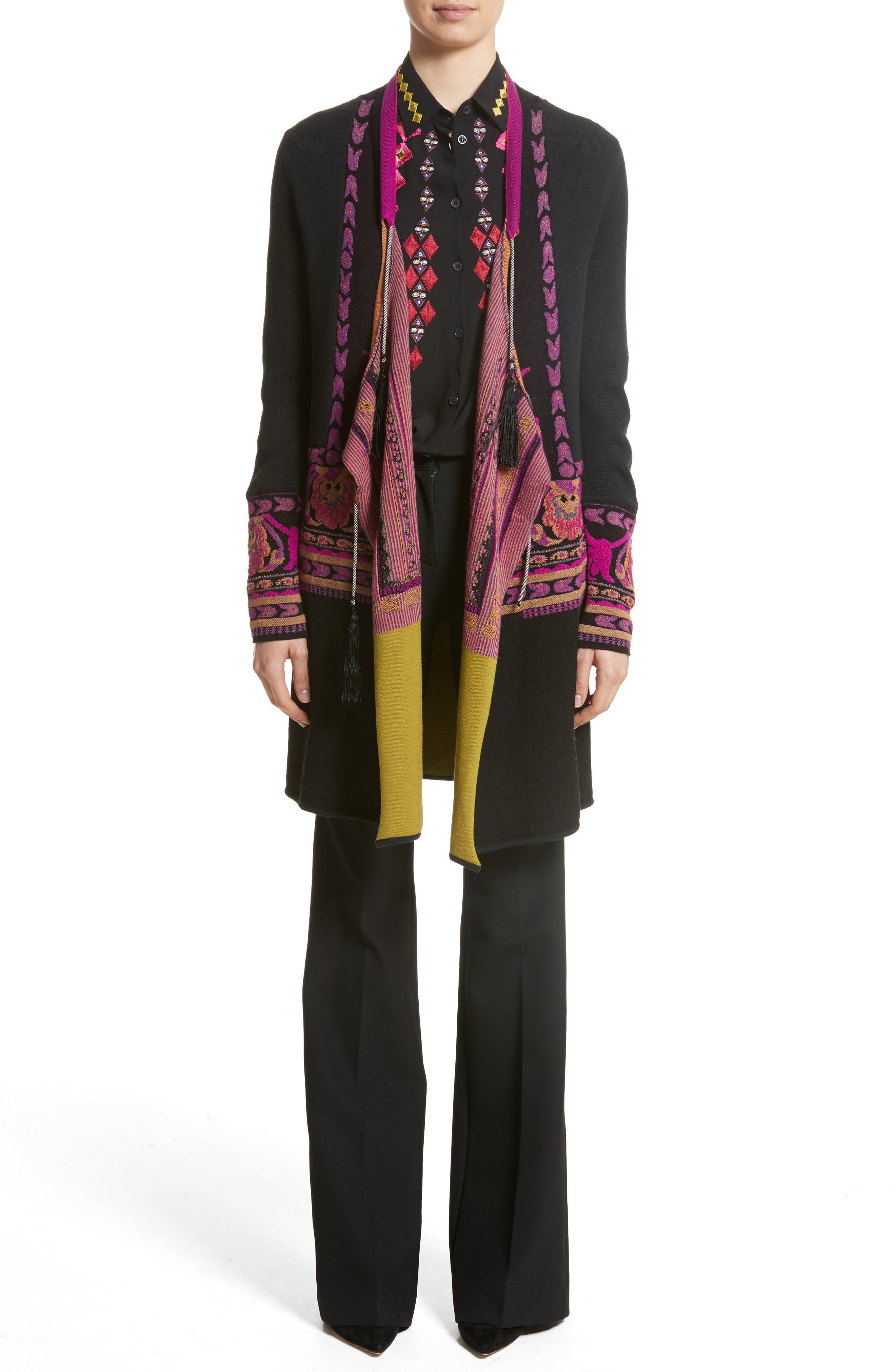 Alternate Image 6  - Etro Tassel Wool Blend Cardigan