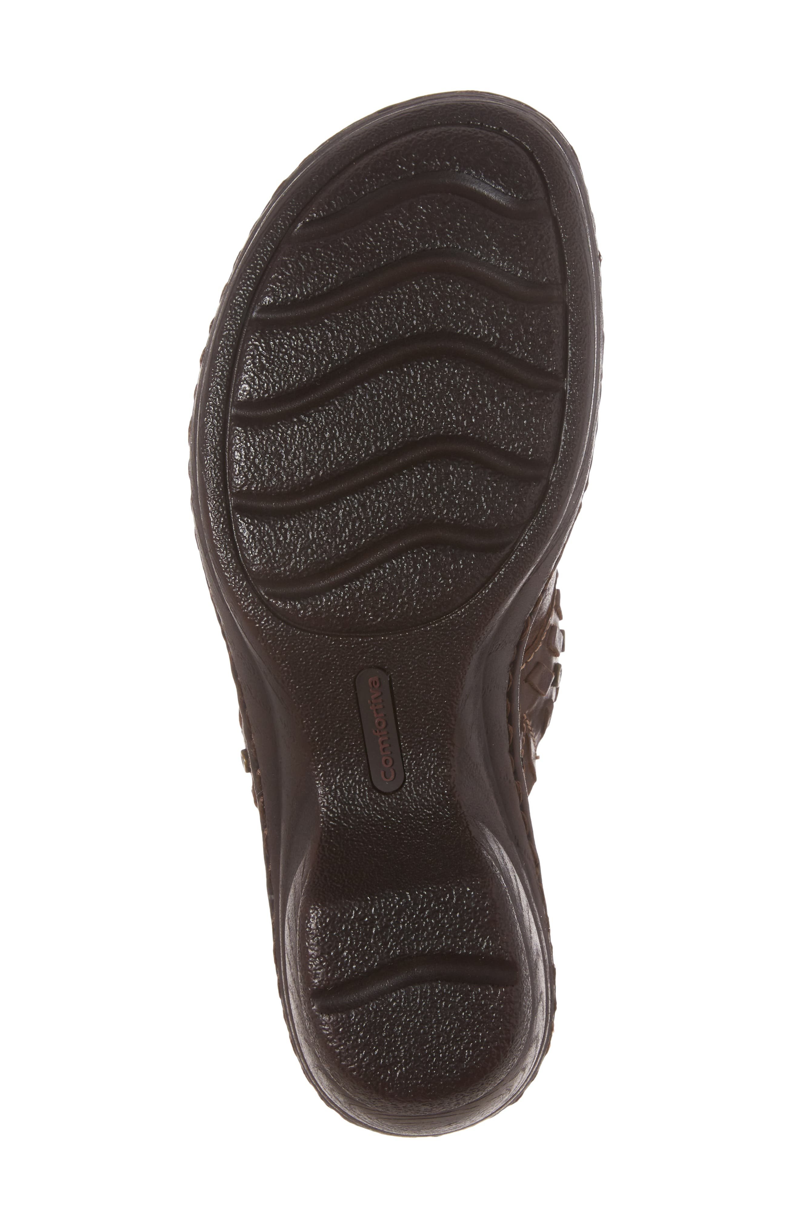 Lorain Clog,                             Alternate thumbnail 6, color,                             Bridle Brown Leather