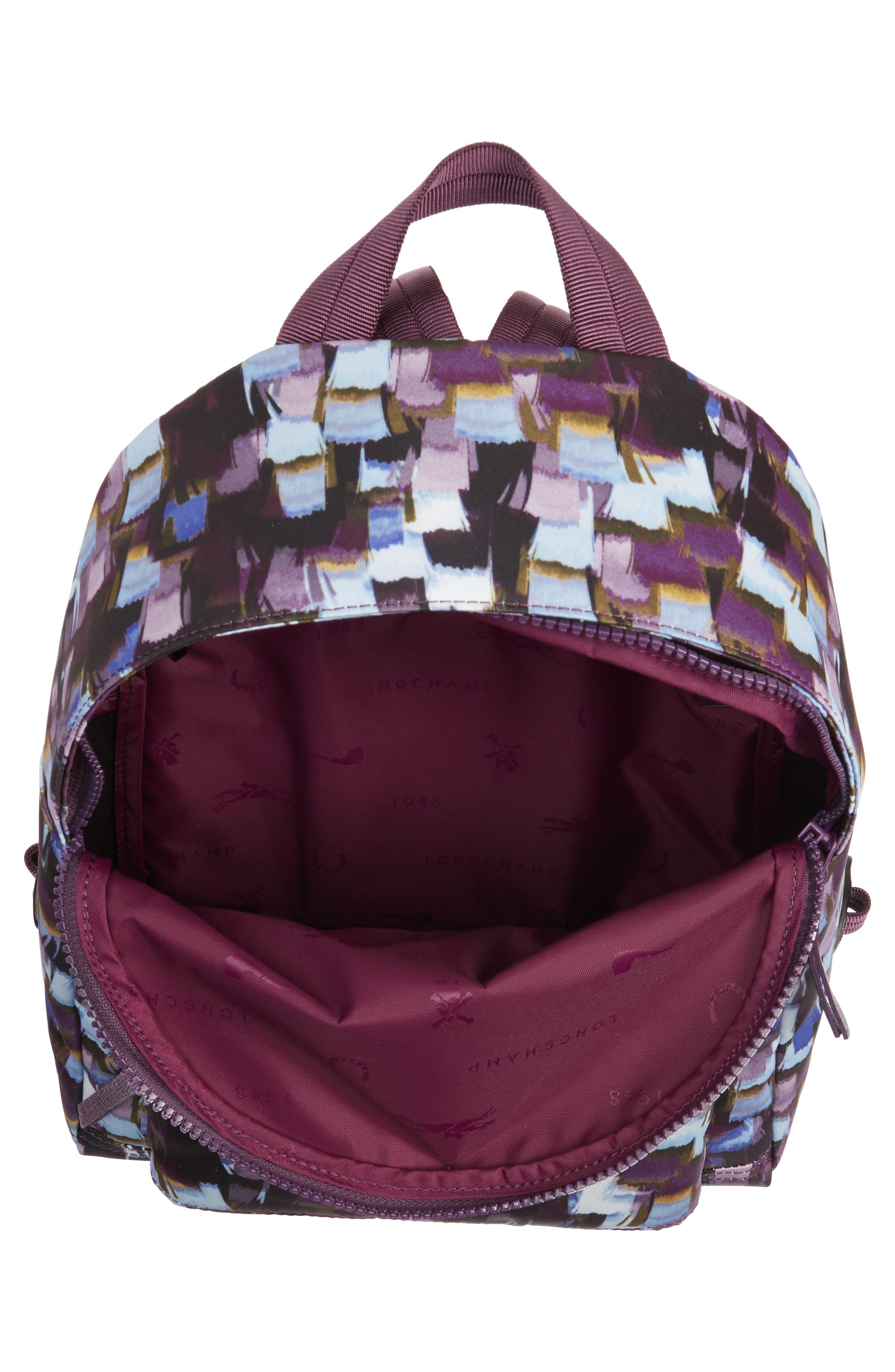 Le Pliage Neo - Vibrations Nylon Backpack,                             Alternate thumbnail 3, color,                             Deep Purple