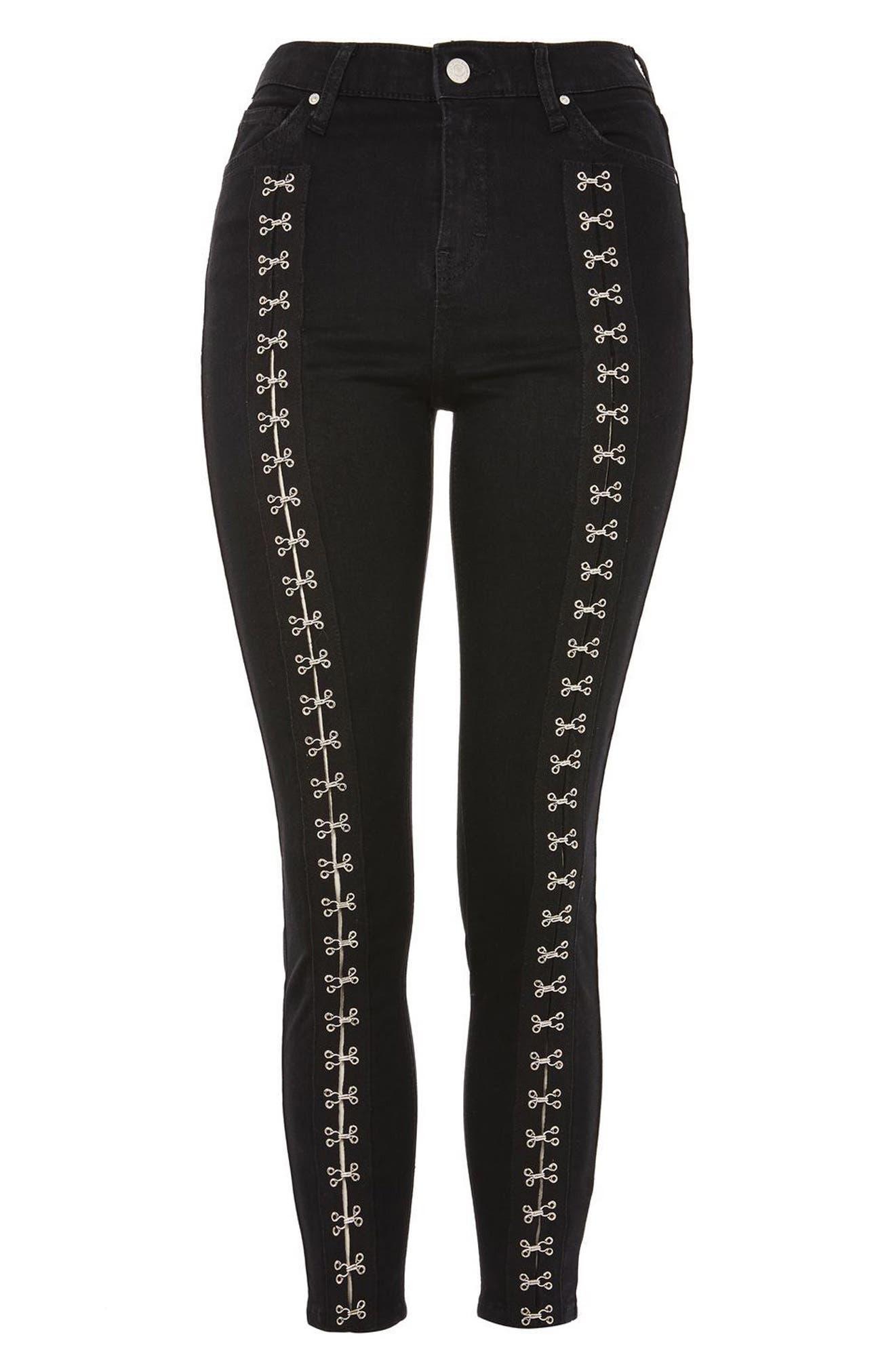 Alternate Image 4  - Topshop Jamie Hook & Eye High Waist Skinny Jeans