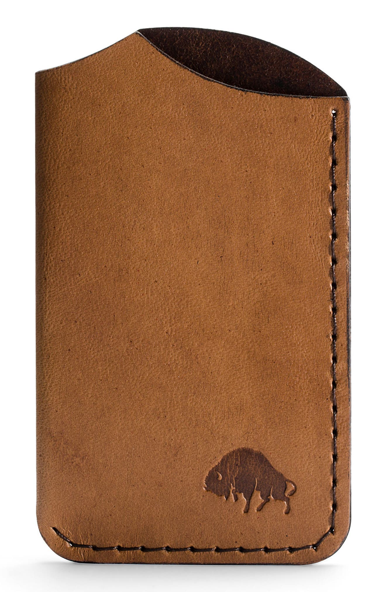 No. 1 Leather Card Case,                         Main,                         color, Whiskey