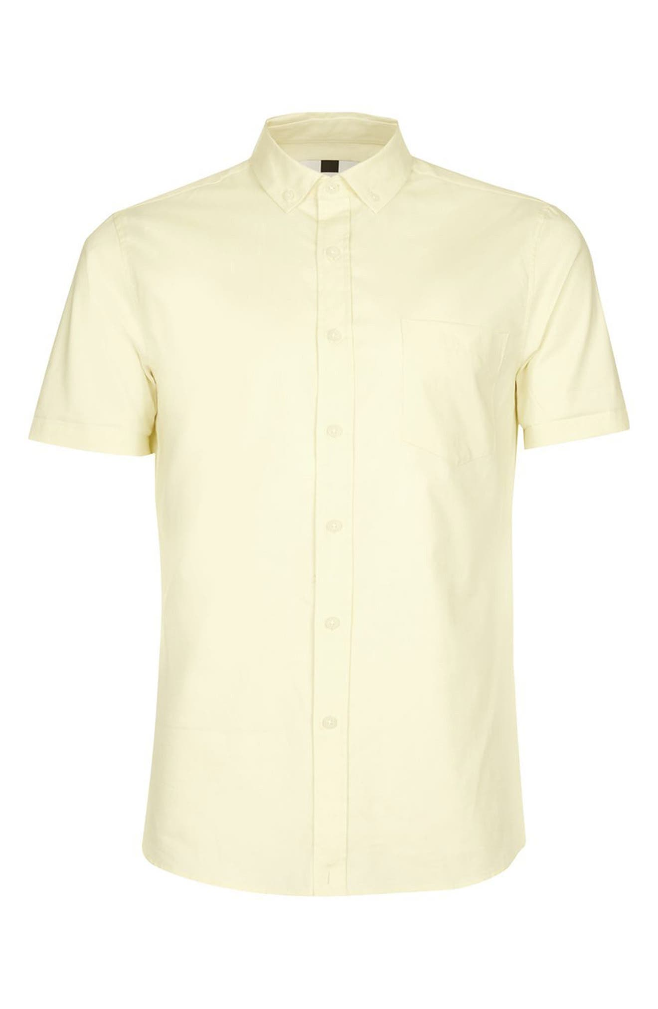 Alternate Image 4  - Topman Slim Fit Stretch Oxford Shirt