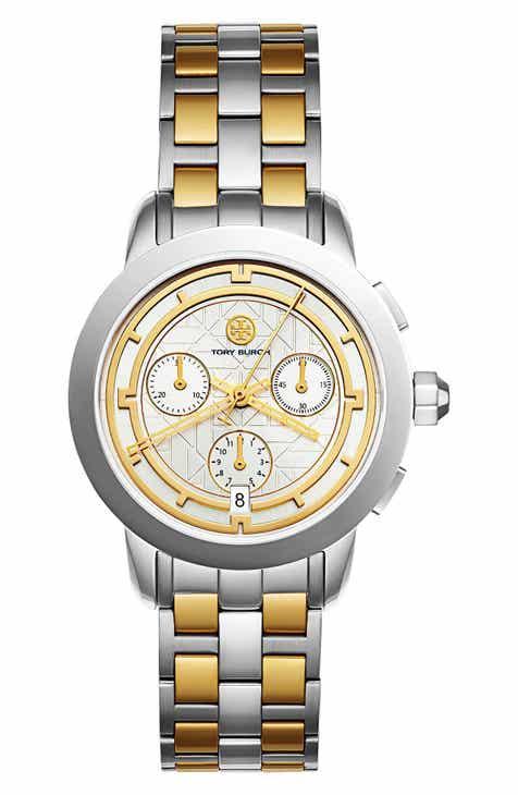 113283d04dc Tory Burch Classic Chronograph Bracelet Watch