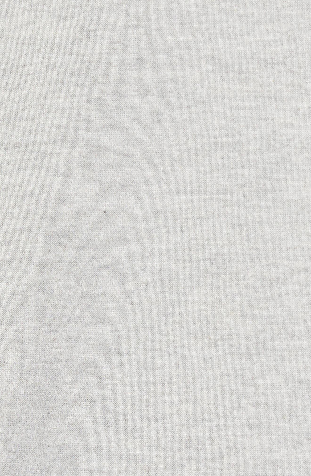 Cold Shoulder Sweatshirt,                             Alternate thumbnail 3, color,                             Grey Heather