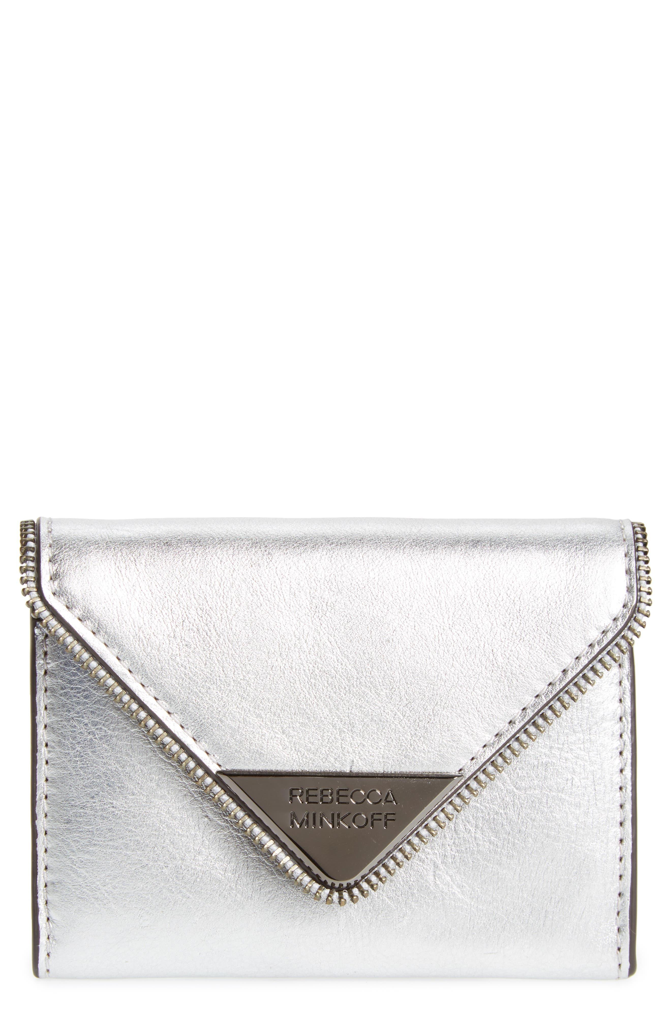 Rebecca Minkoff Molly Metro Metallic Leather Wallet