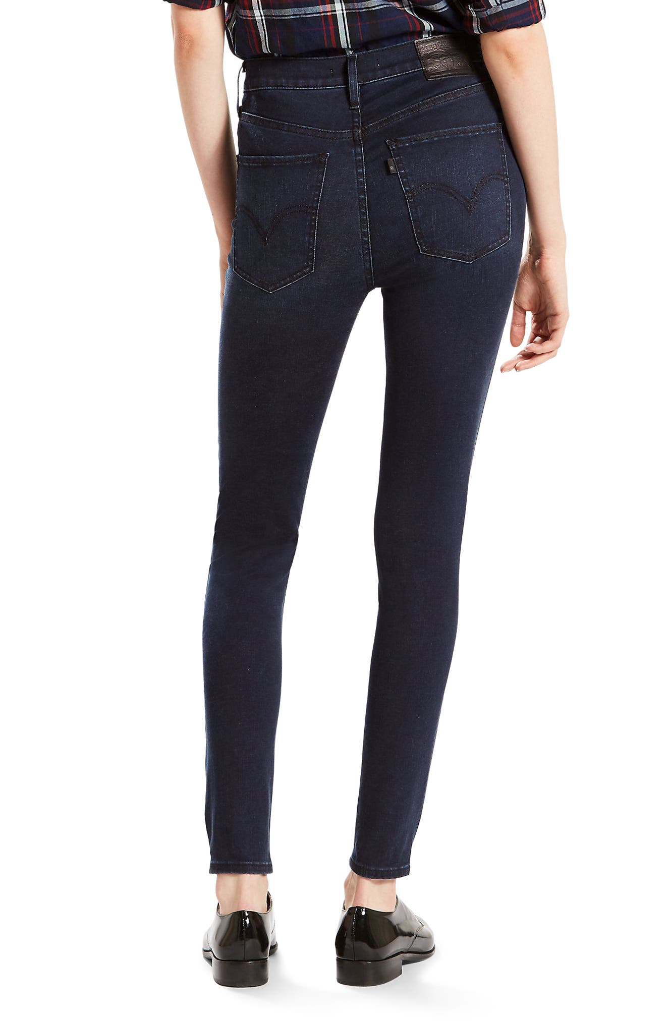 Alternate Image 2  - Levi's® Mile High High Waist Super Skinny Jeans (Red Wonder)