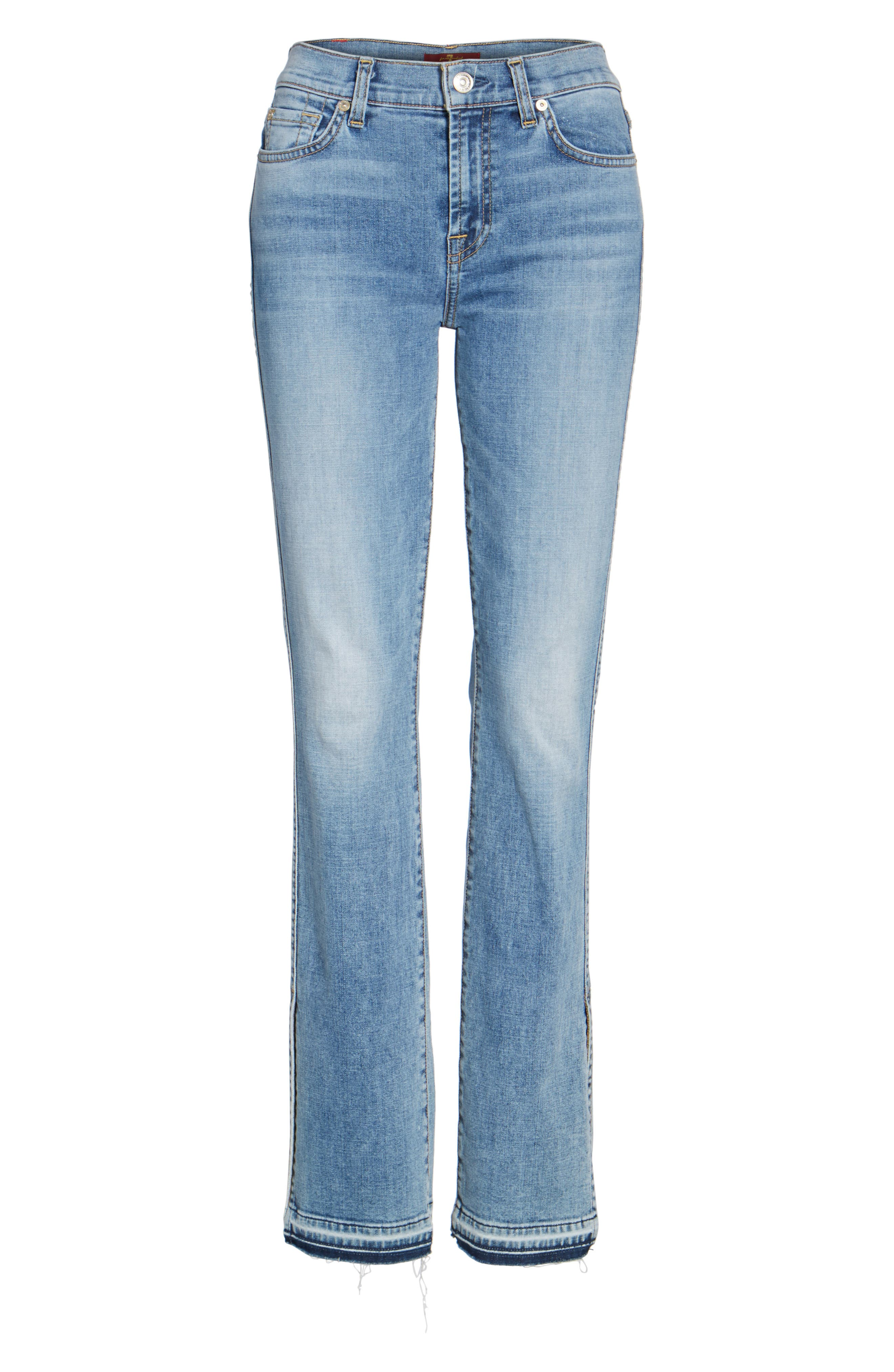 Alternate Image 6  - 7 For All Mankind® Dylan Split Hem Straight Leg Jeans (Light Lafayette)