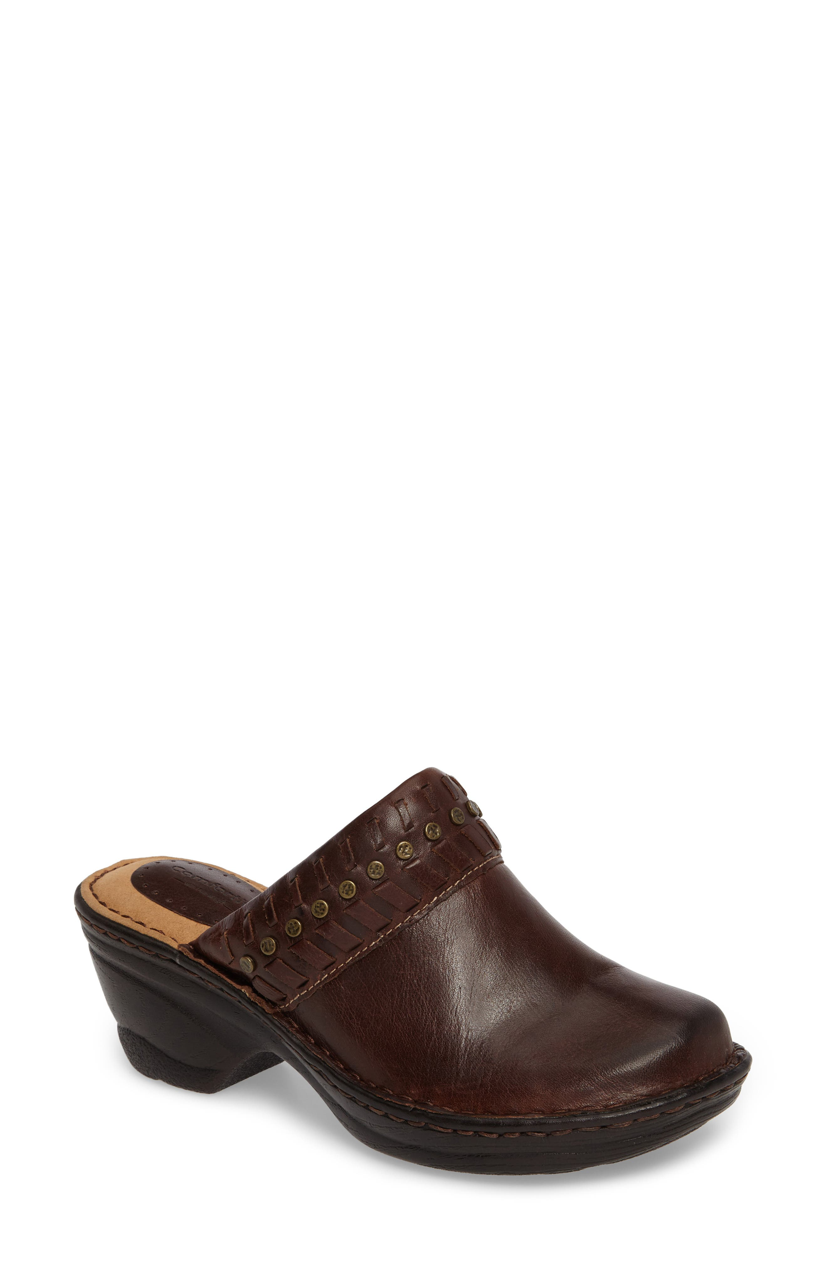 Lorain Clog,                             Main thumbnail 1, color,                             Bridle Brown Leather