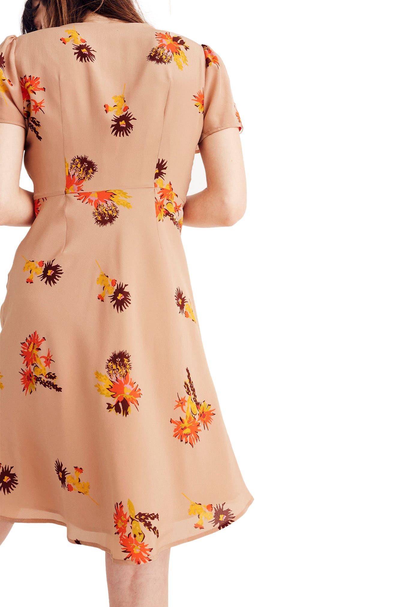 Alternate Image 2  - Madewell Cactus Flower Silk Dress