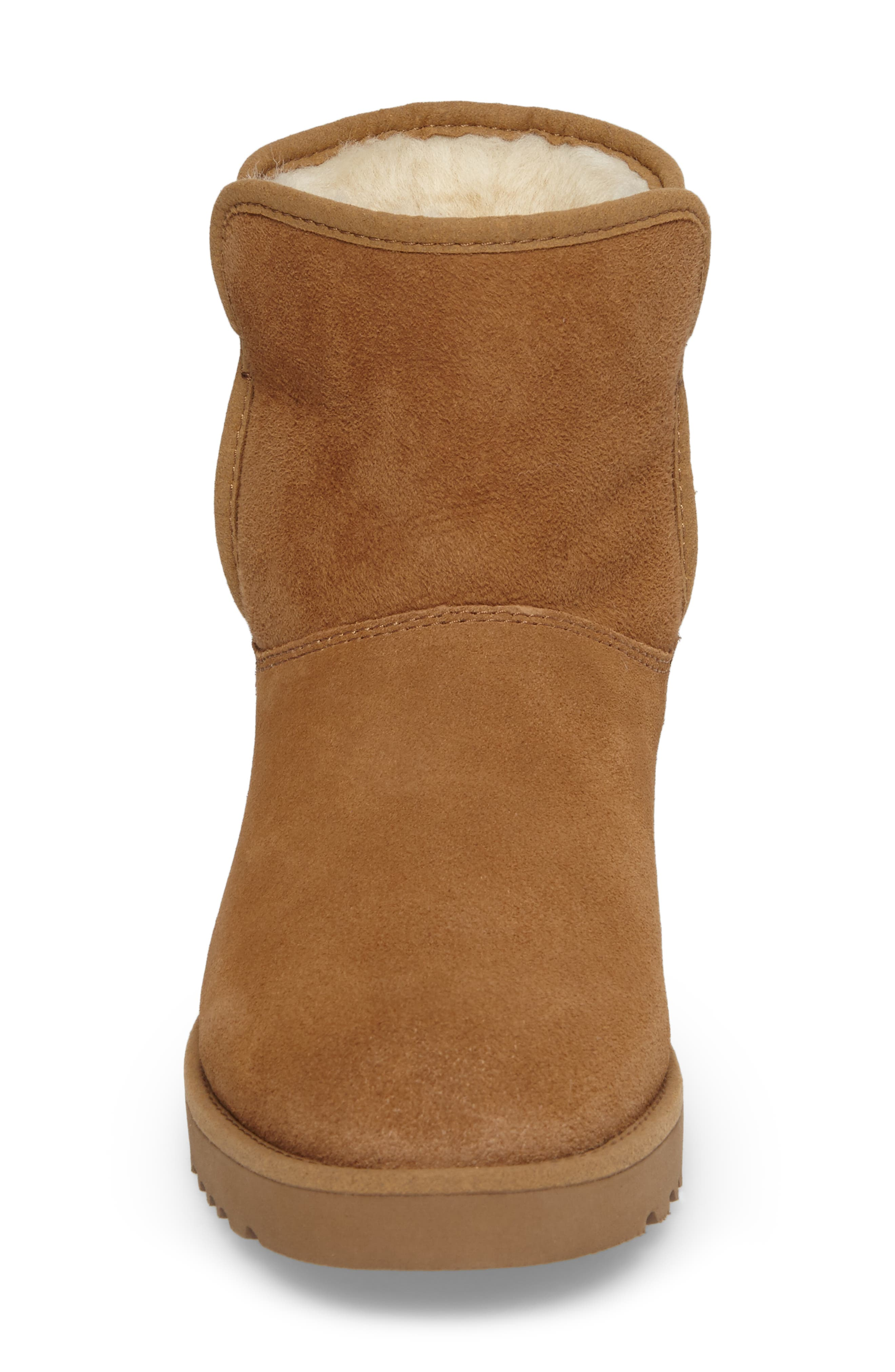 'Cory' Short Boot,                             Alternate thumbnail 4, color,                             Chestnut Suede