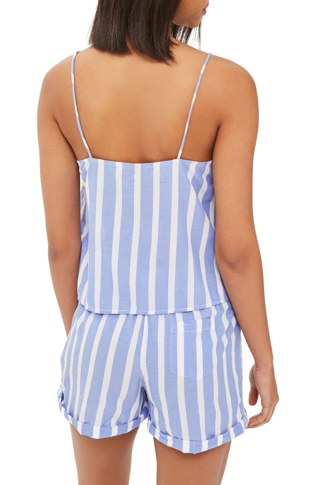 Stripe Pajama Camisole,                             Alternate thumbnail 2, color,                             Blue Multi