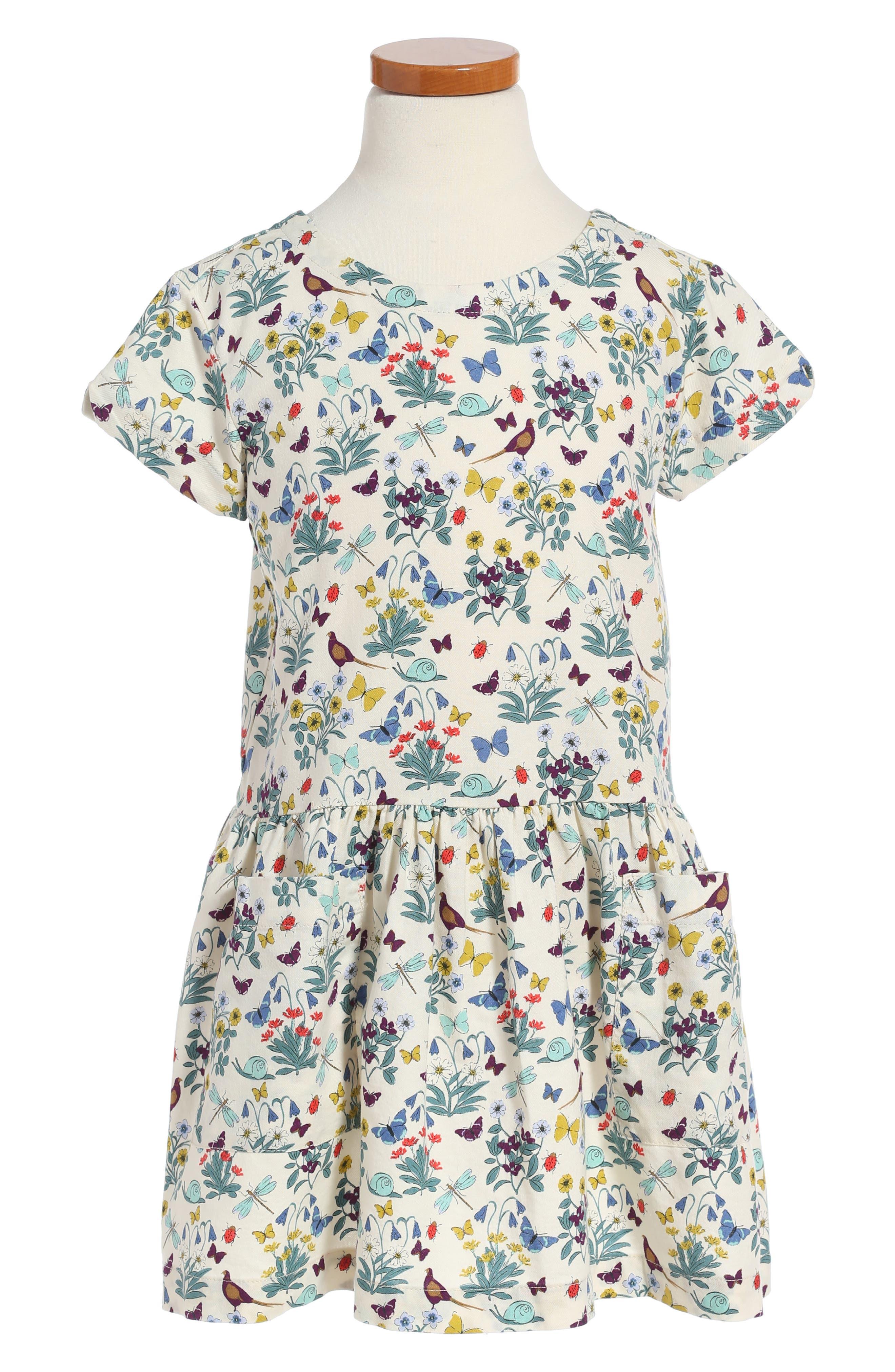 Tea Collection Heather Drop Waist Dress (Toddler Girls, Little Girls & Big Girls)