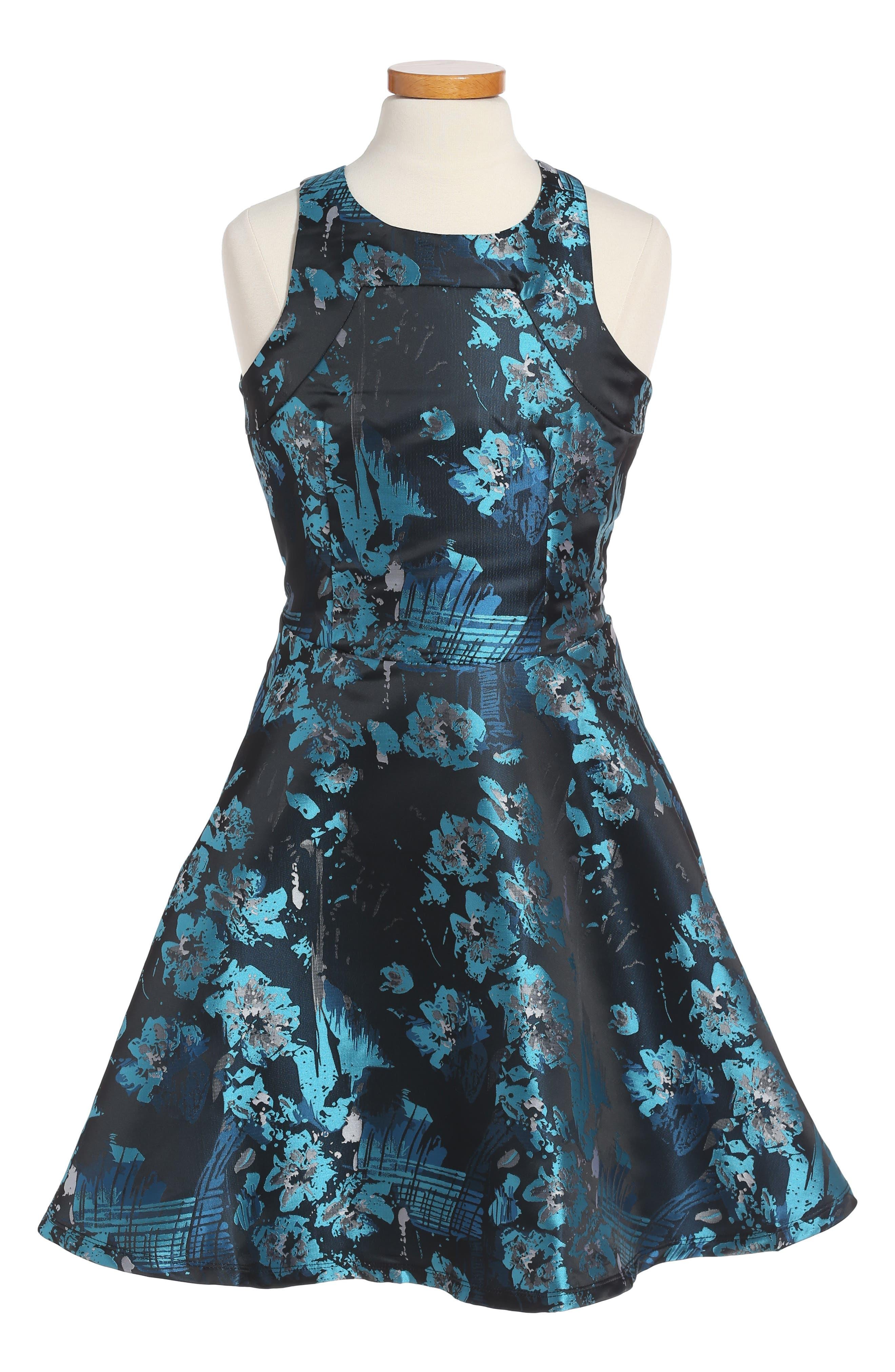 MISS BEHAVE Floral Print Sleeveless Dress