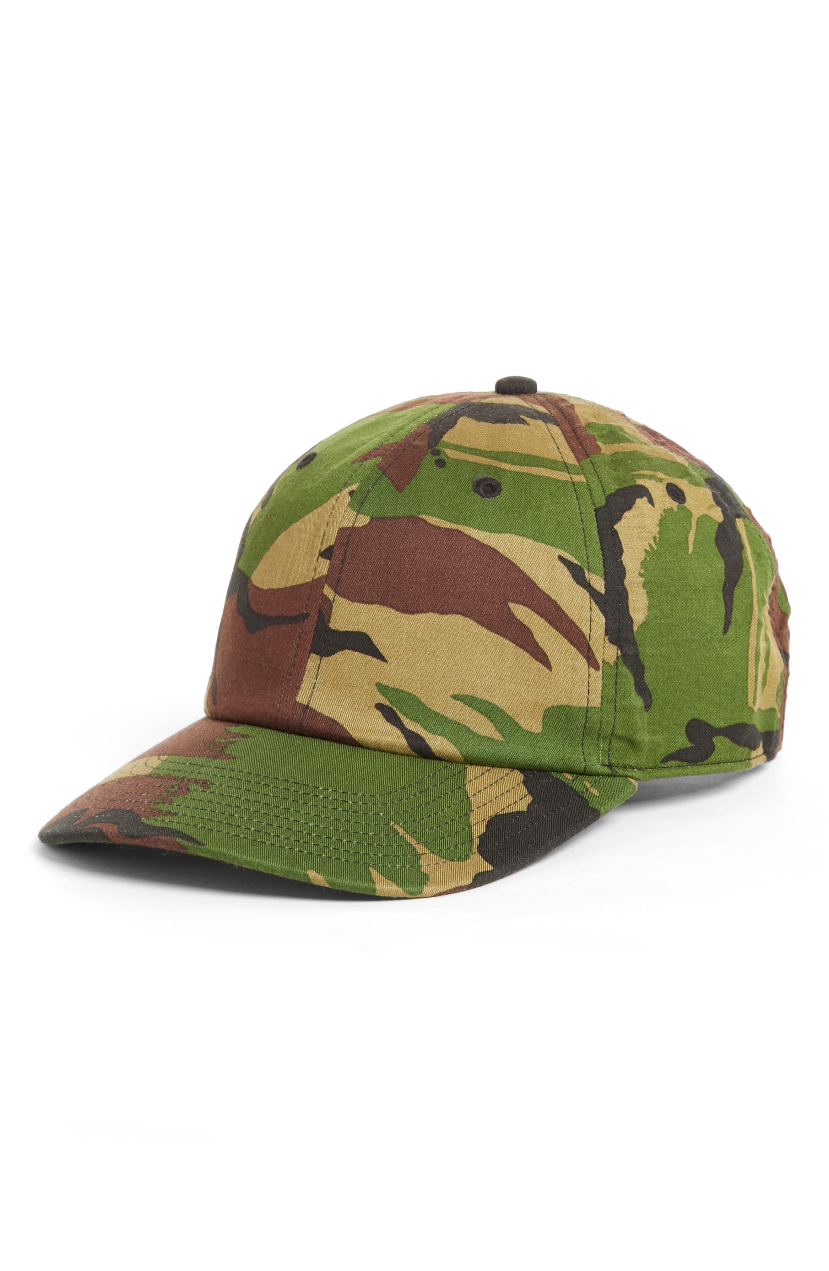 Dylan Camo Ball Cap,                         Main,                         color, Green Camo