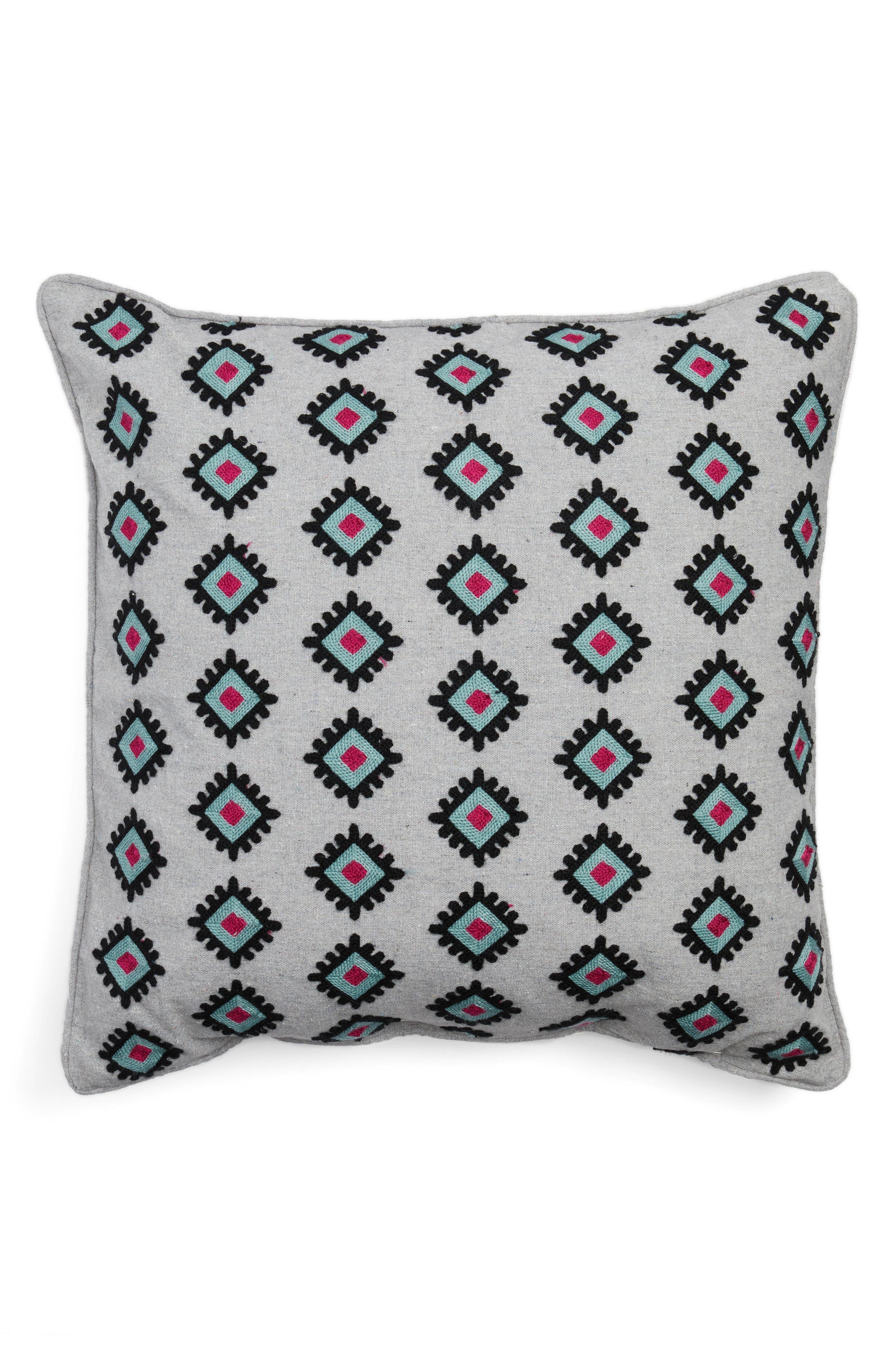 Nala Towel Stitch Accent Pillow,                         Main,                         color, Grey