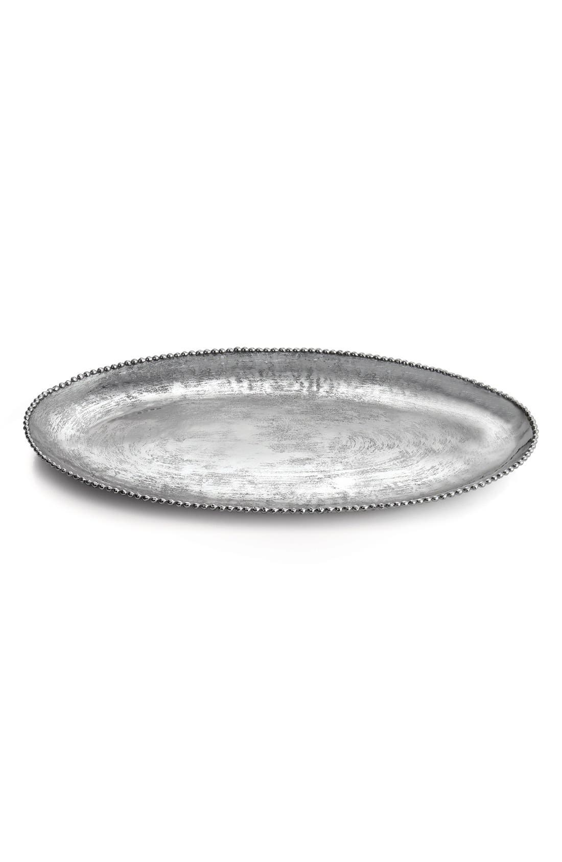 'Molten Frost' Platter,                         Main,                         color, Silver