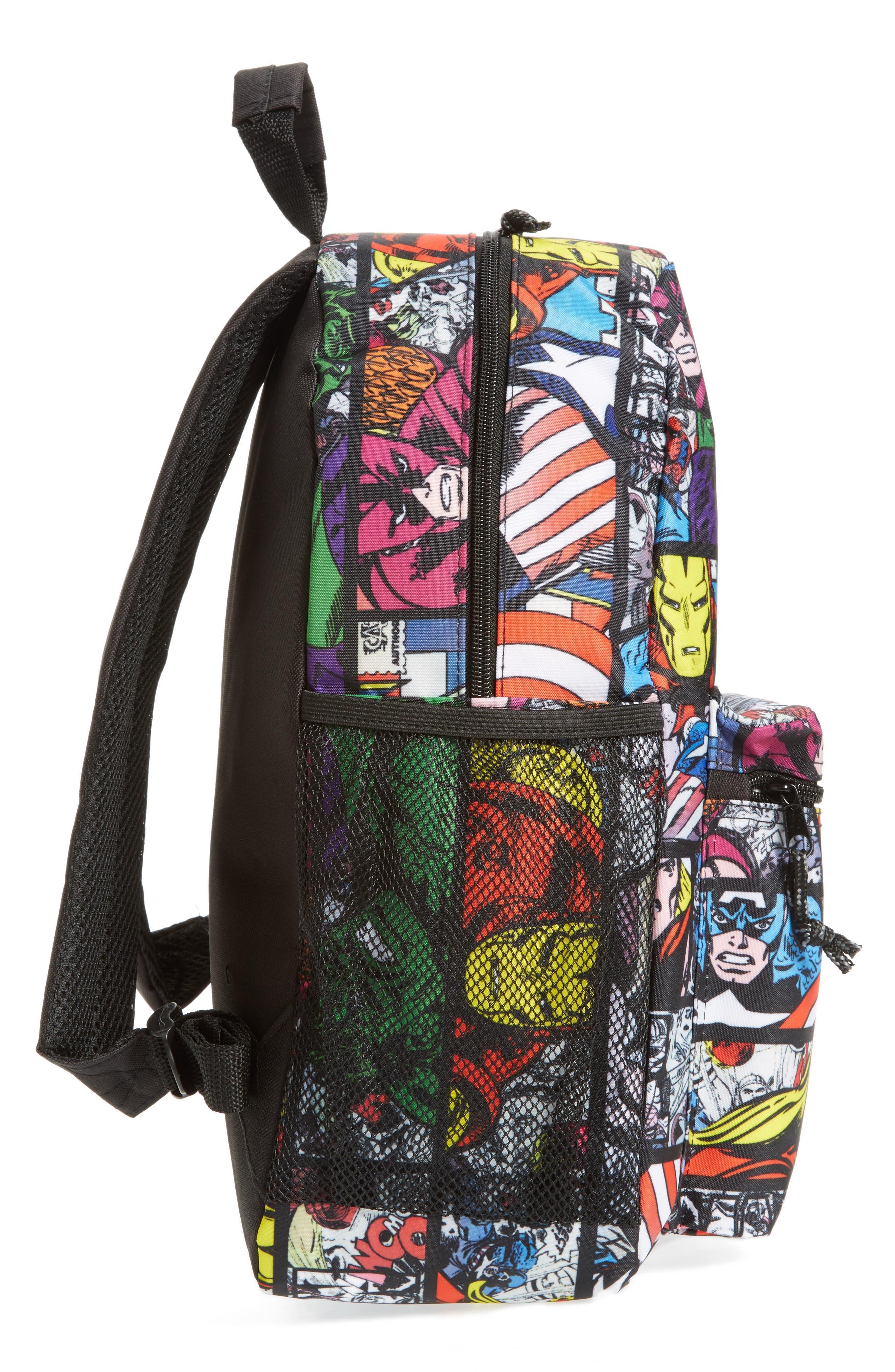 Alternate Image 4  - Marvel Allover Print Backpack (Kids)