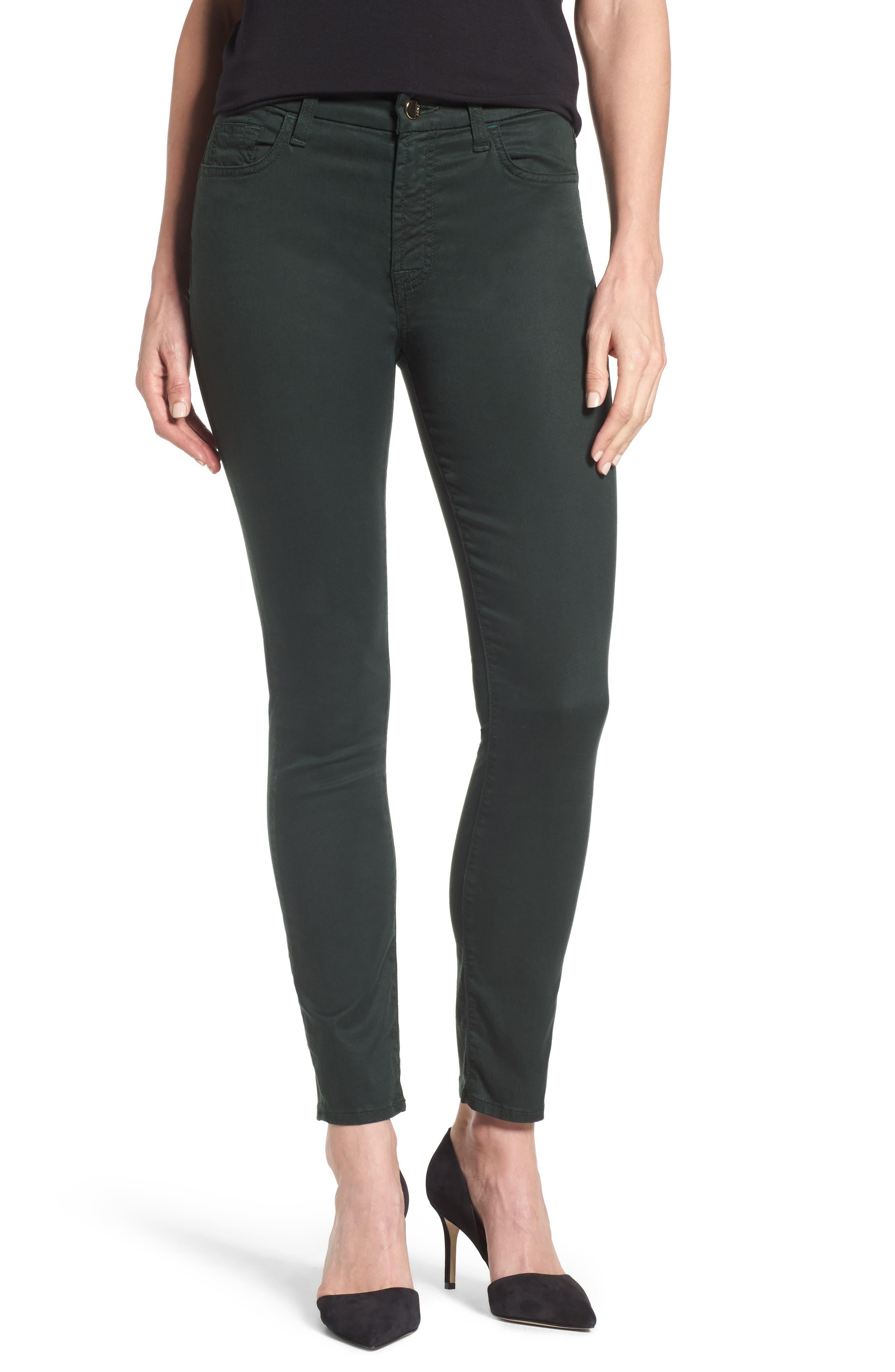 Jen7 Sateen Skinny Ankle Jeans