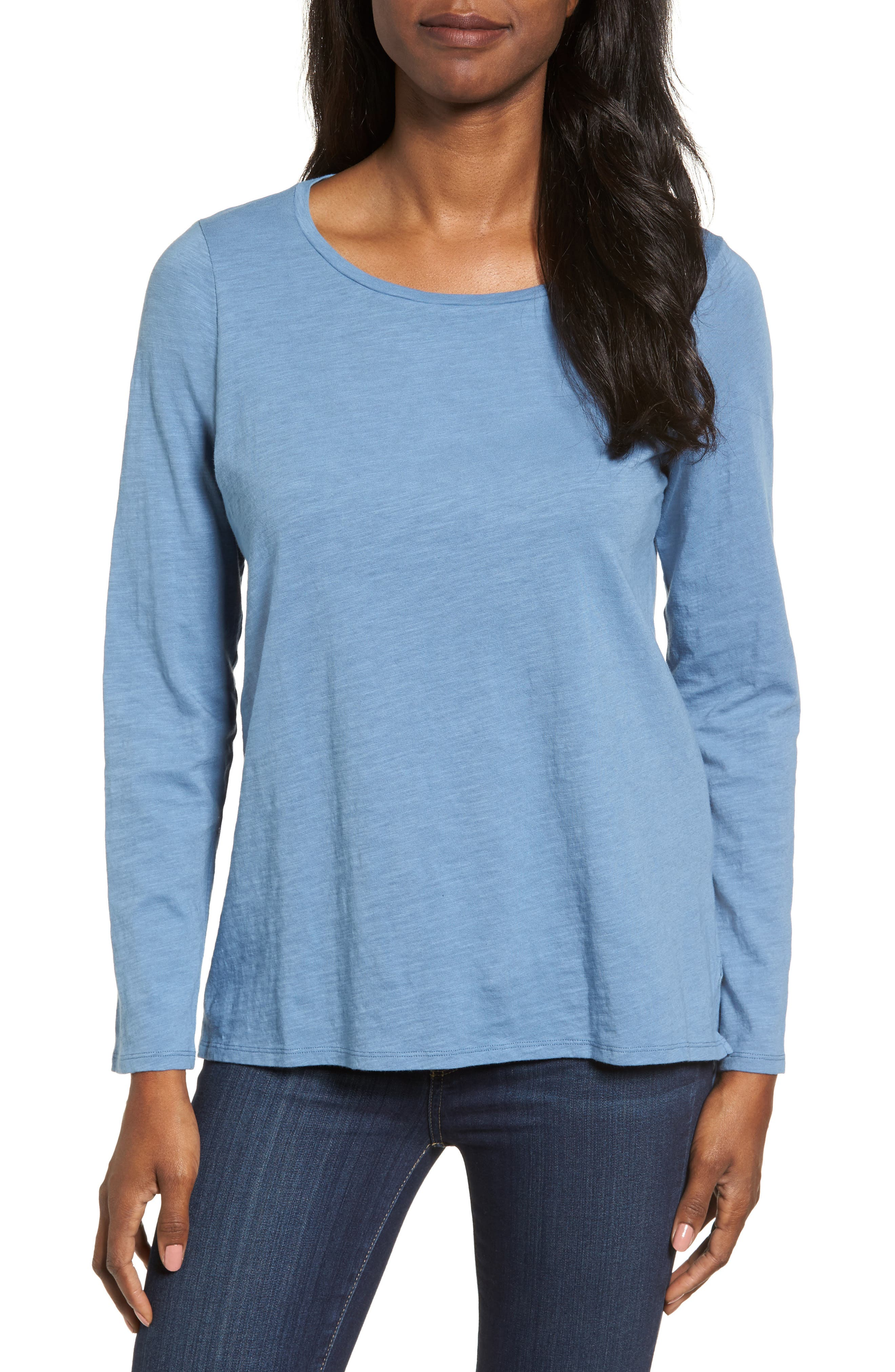 Alternate Image 1 Selected - Eileen Fisher Organic Cotton Tee