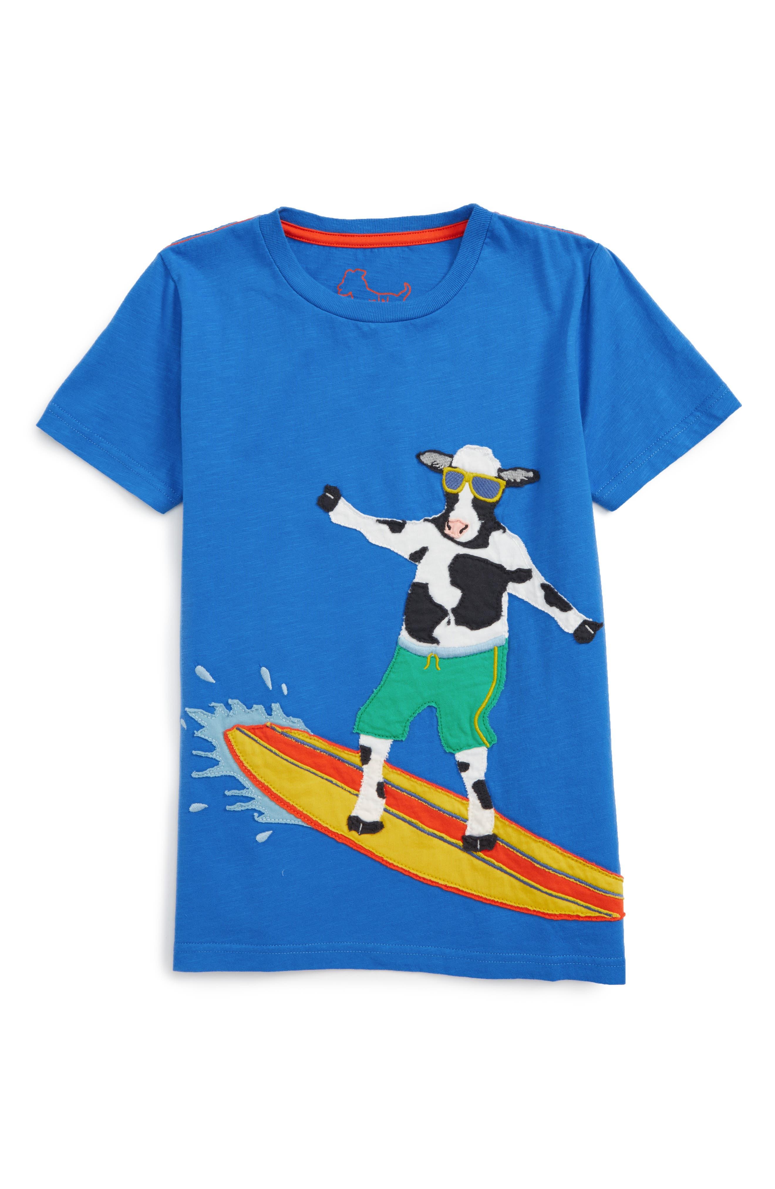 MINI BODEN Beach Animal Appliqué T-Shirt