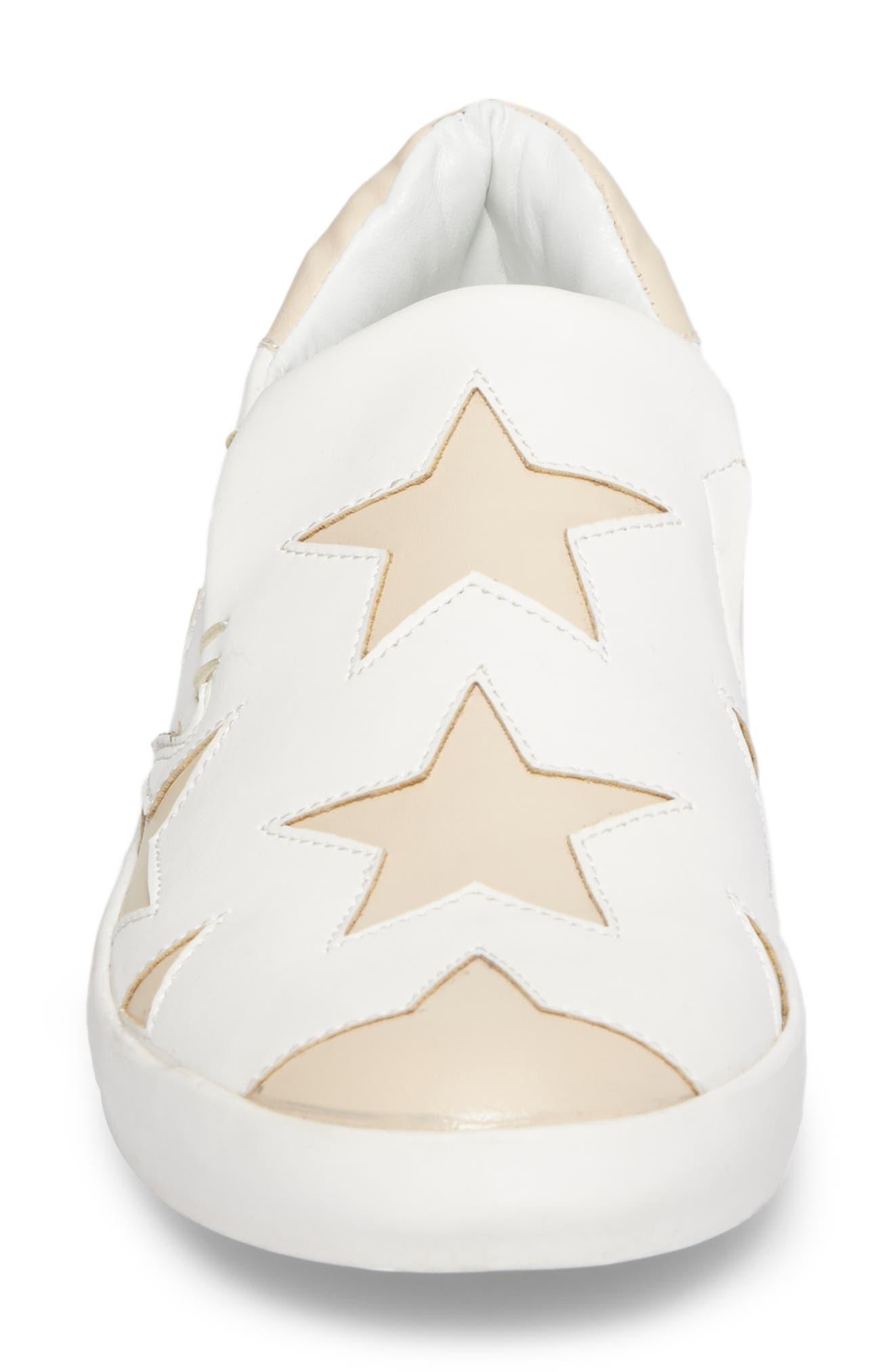Highlight Slip-On Star Sneaker,                             Alternate thumbnail 4, color,                             White