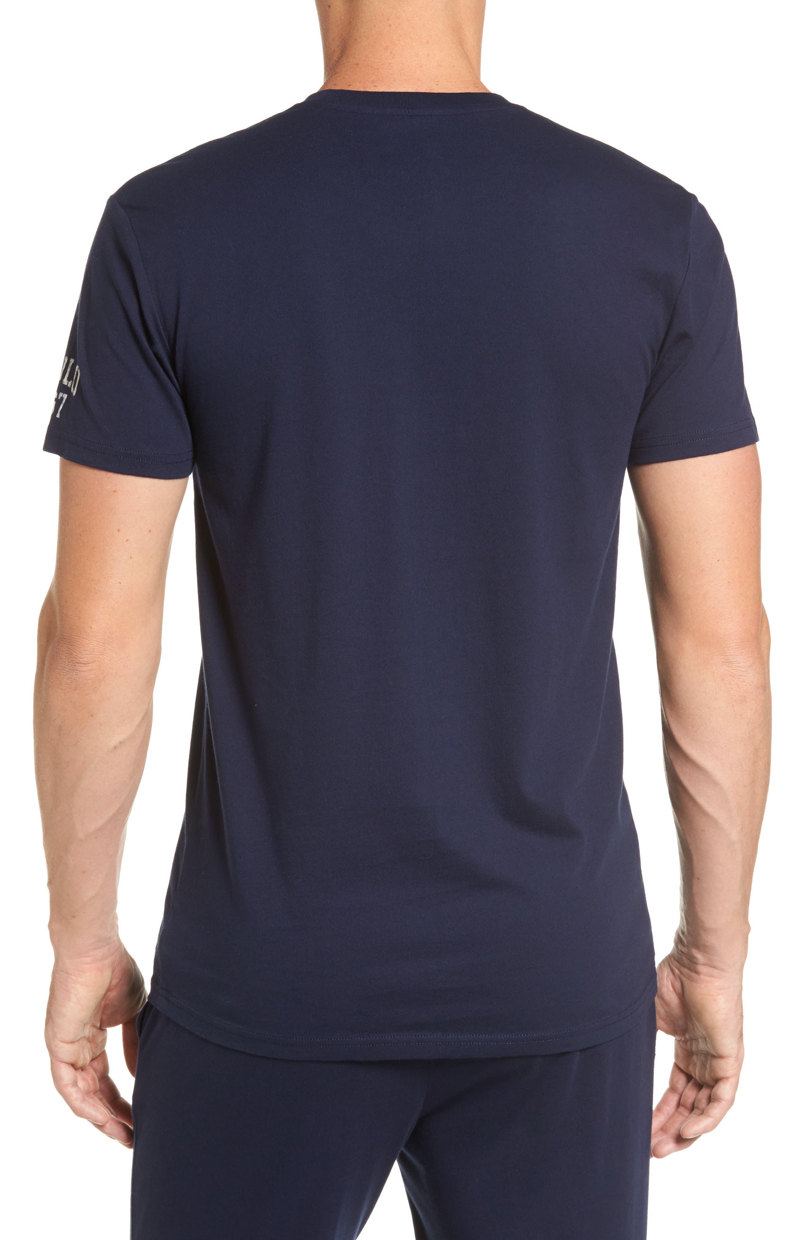 Crewneck T-Shirt,                             Alternate thumbnail 2, color,                             Cruise Navy