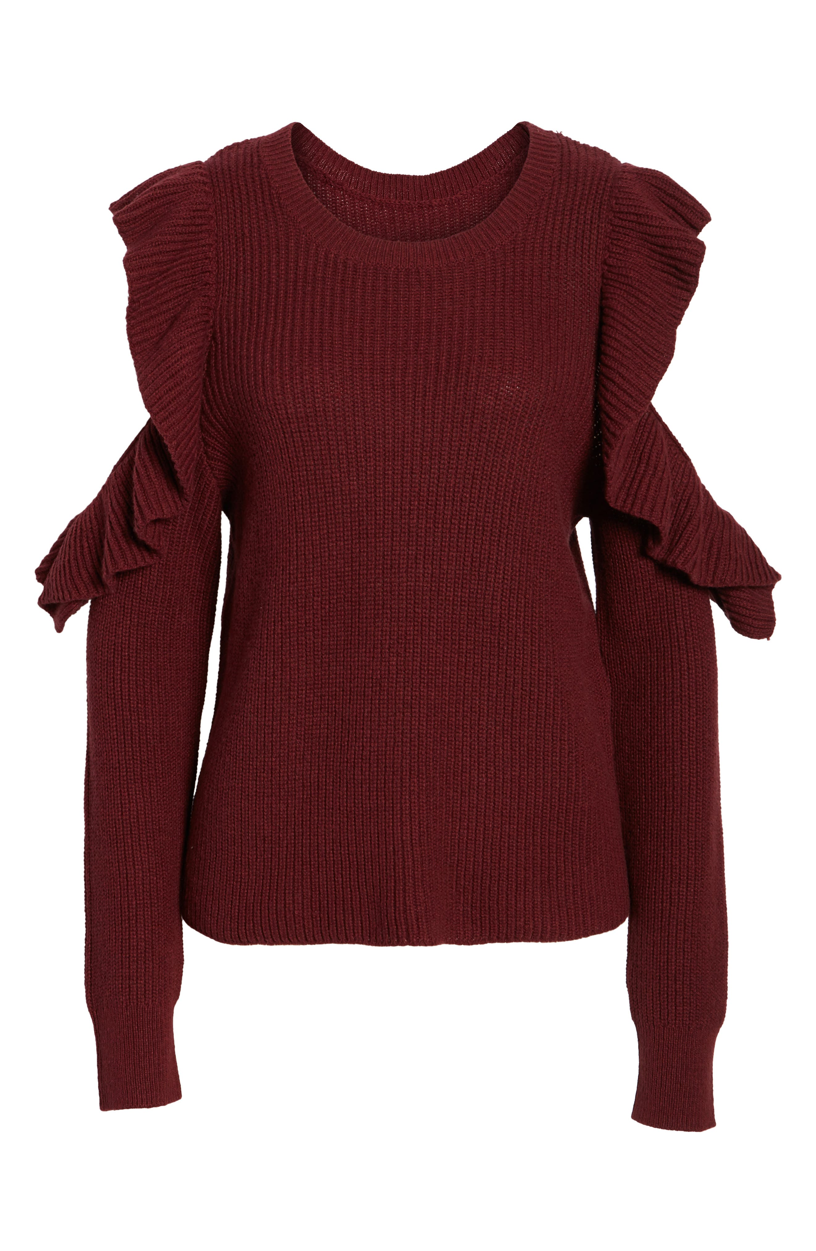 Alternate Image 6  - BP. Ruffle Cold Shoulder Sweater