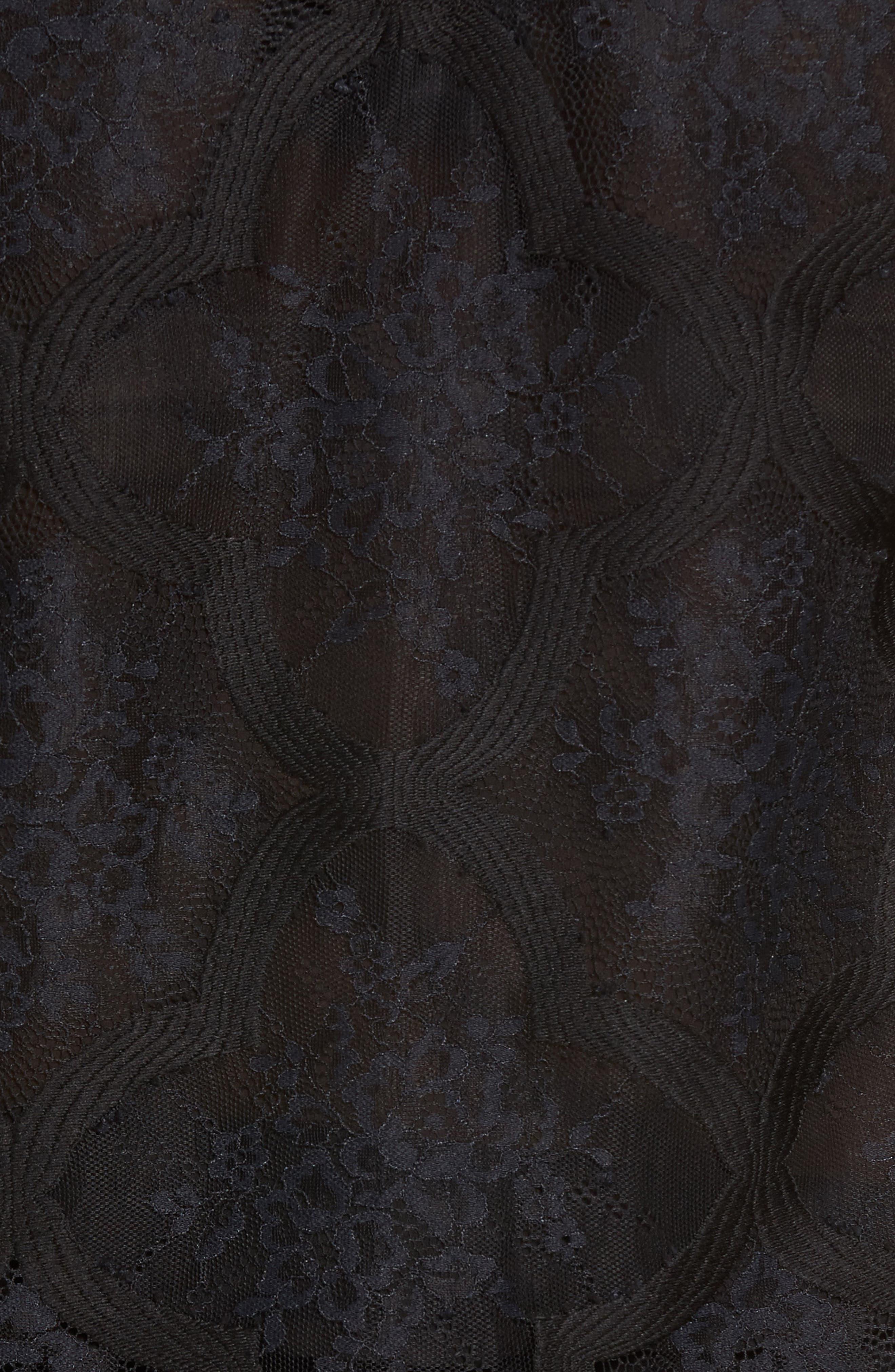 Lace Crop Top,                             Alternate thumbnail 5, color,                             Black