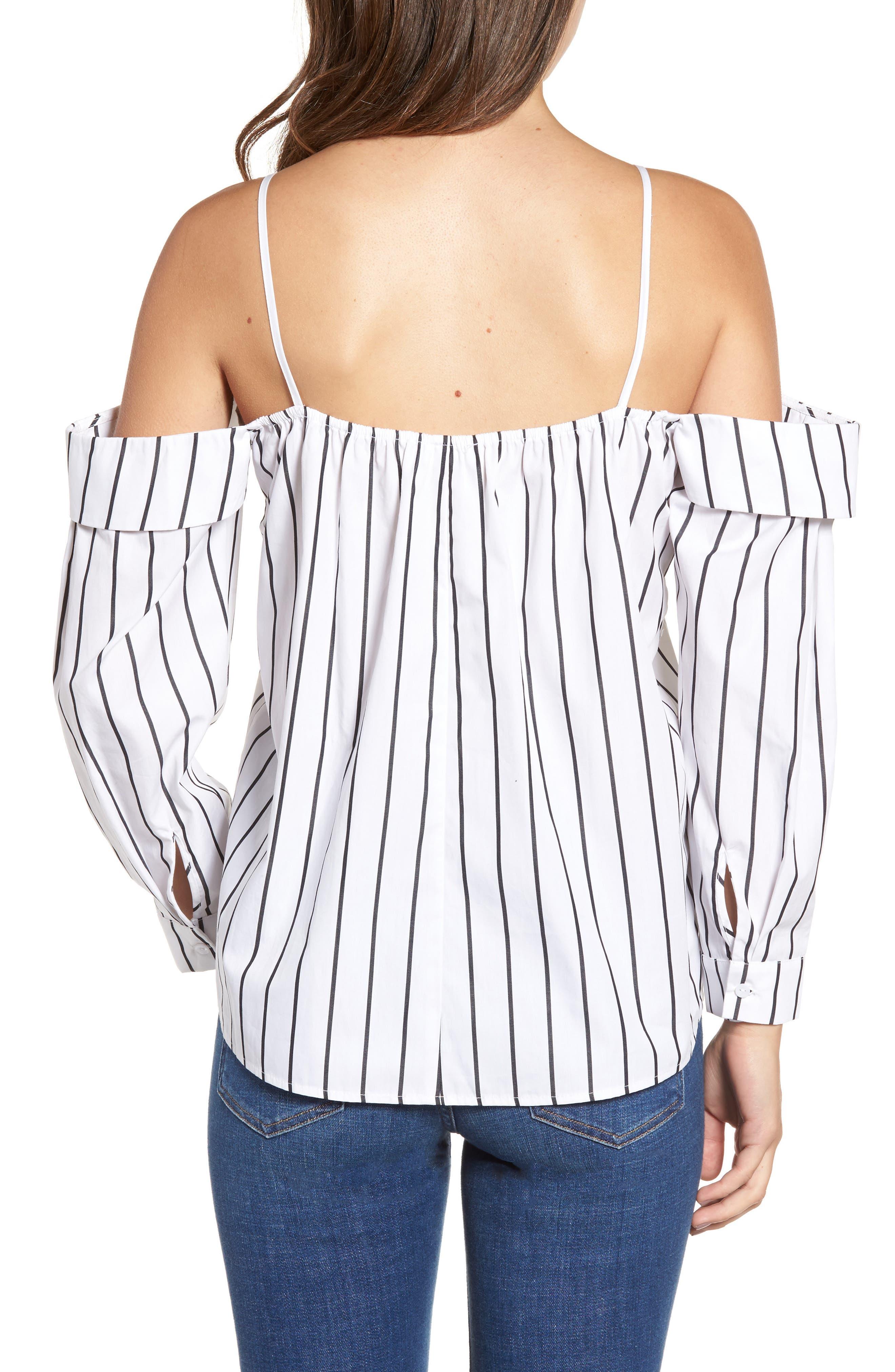 Alternate Image 2  - Leith Stripe Off the Shoulder Top