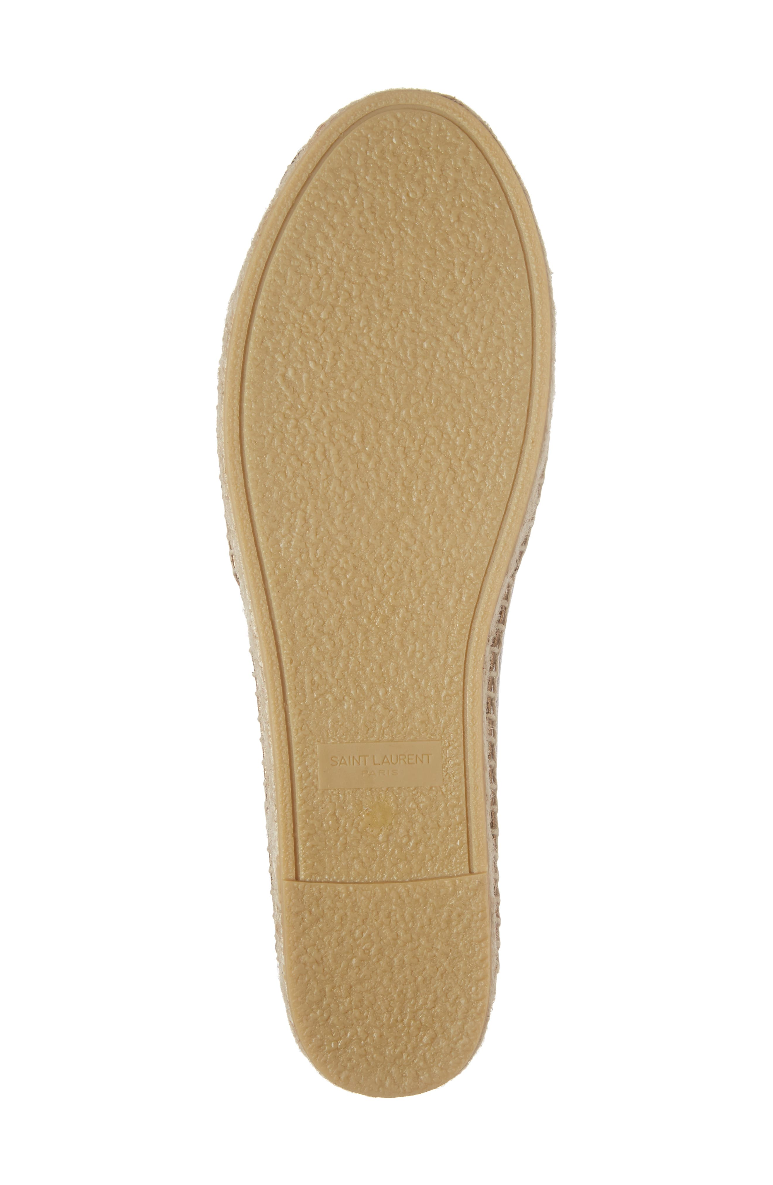 Metallic Logo Espadrille,                             Alternate thumbnail 6, color,                             Metallic Gold