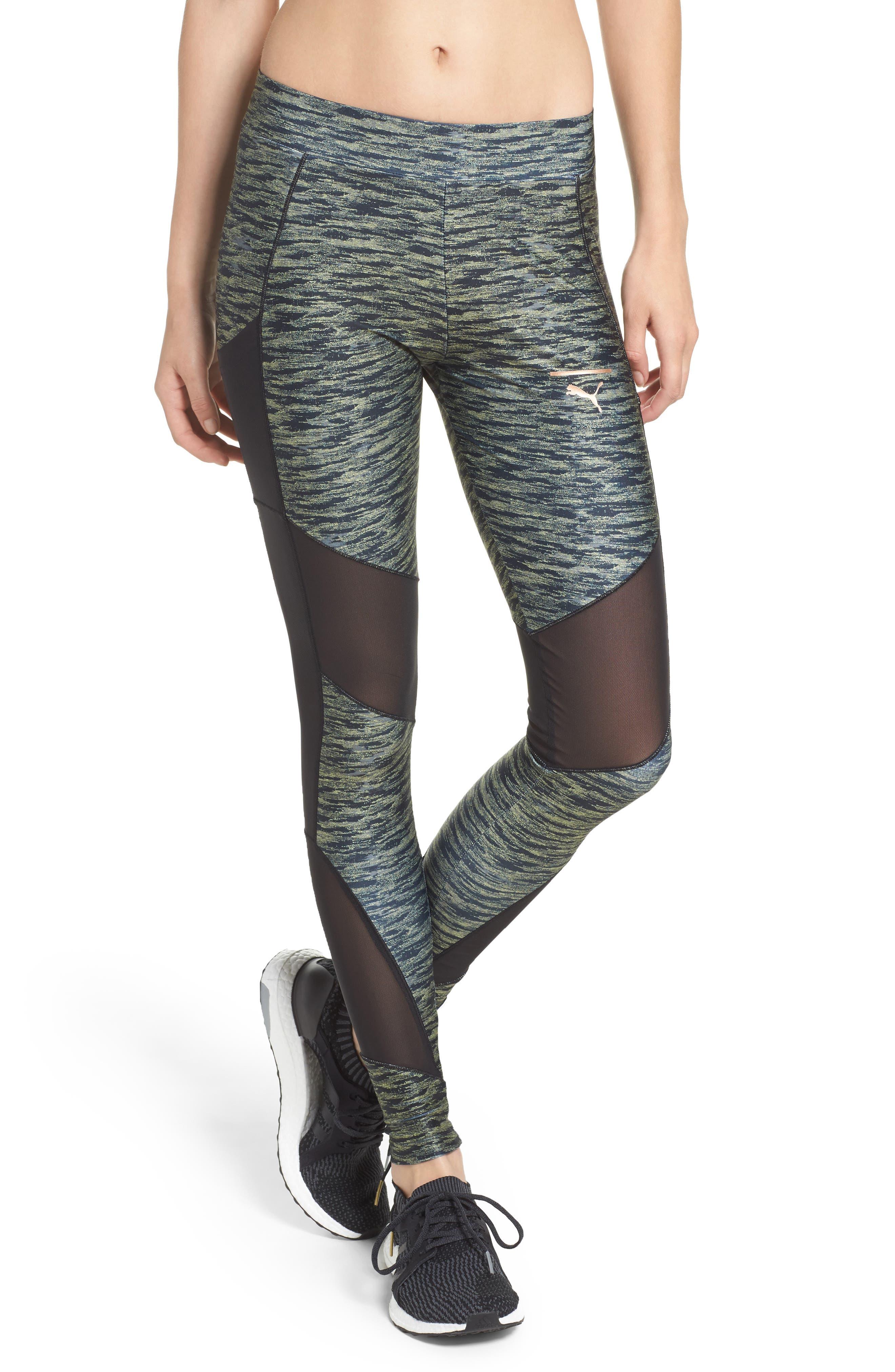 Velvet Rope Leggings,                         Main,                         color, Puma Black