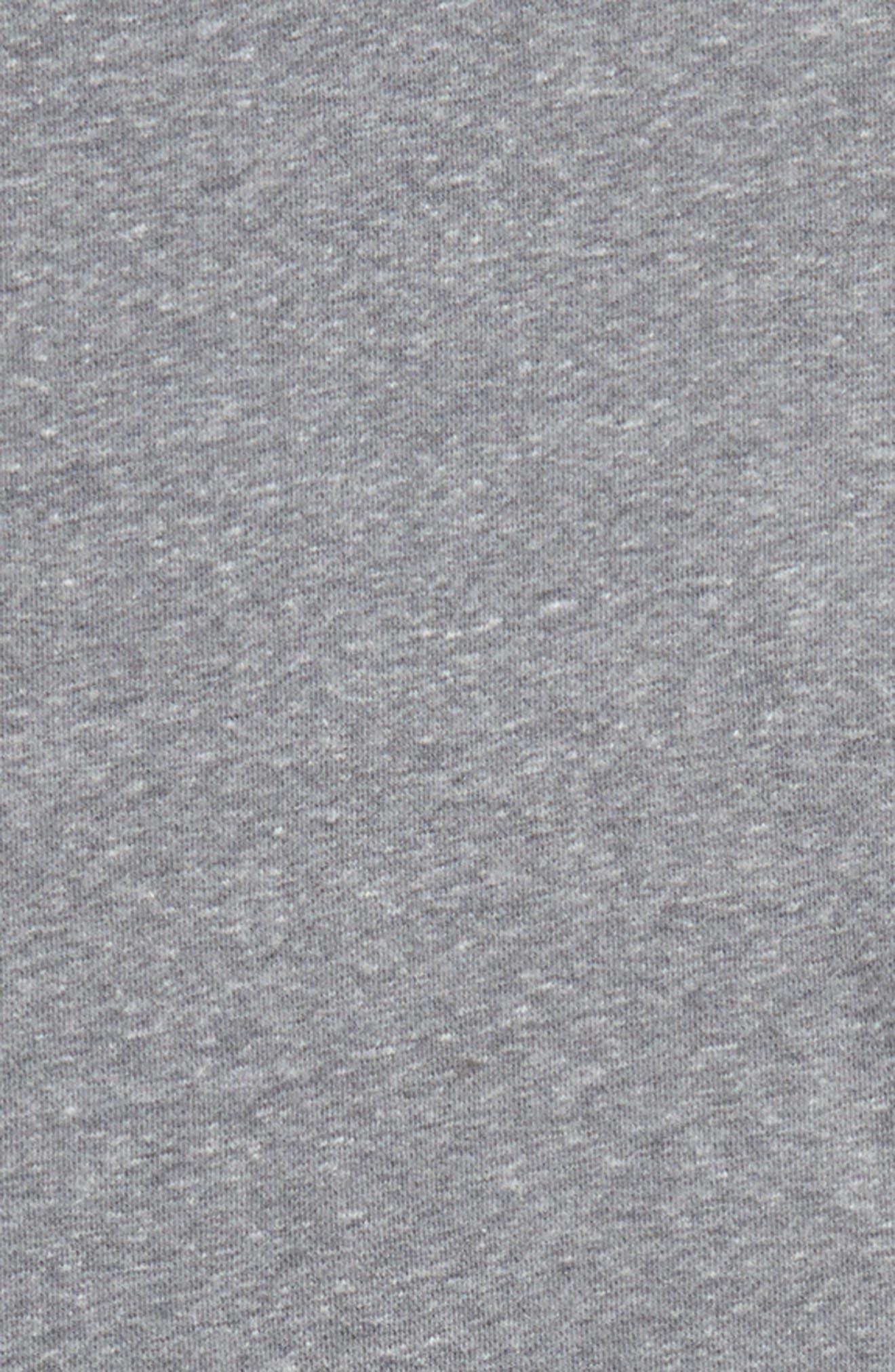 Hooded Short Sleeve Sweatshirt,                             Alternate thumbnail 2, color,                             Grey Medium Heather