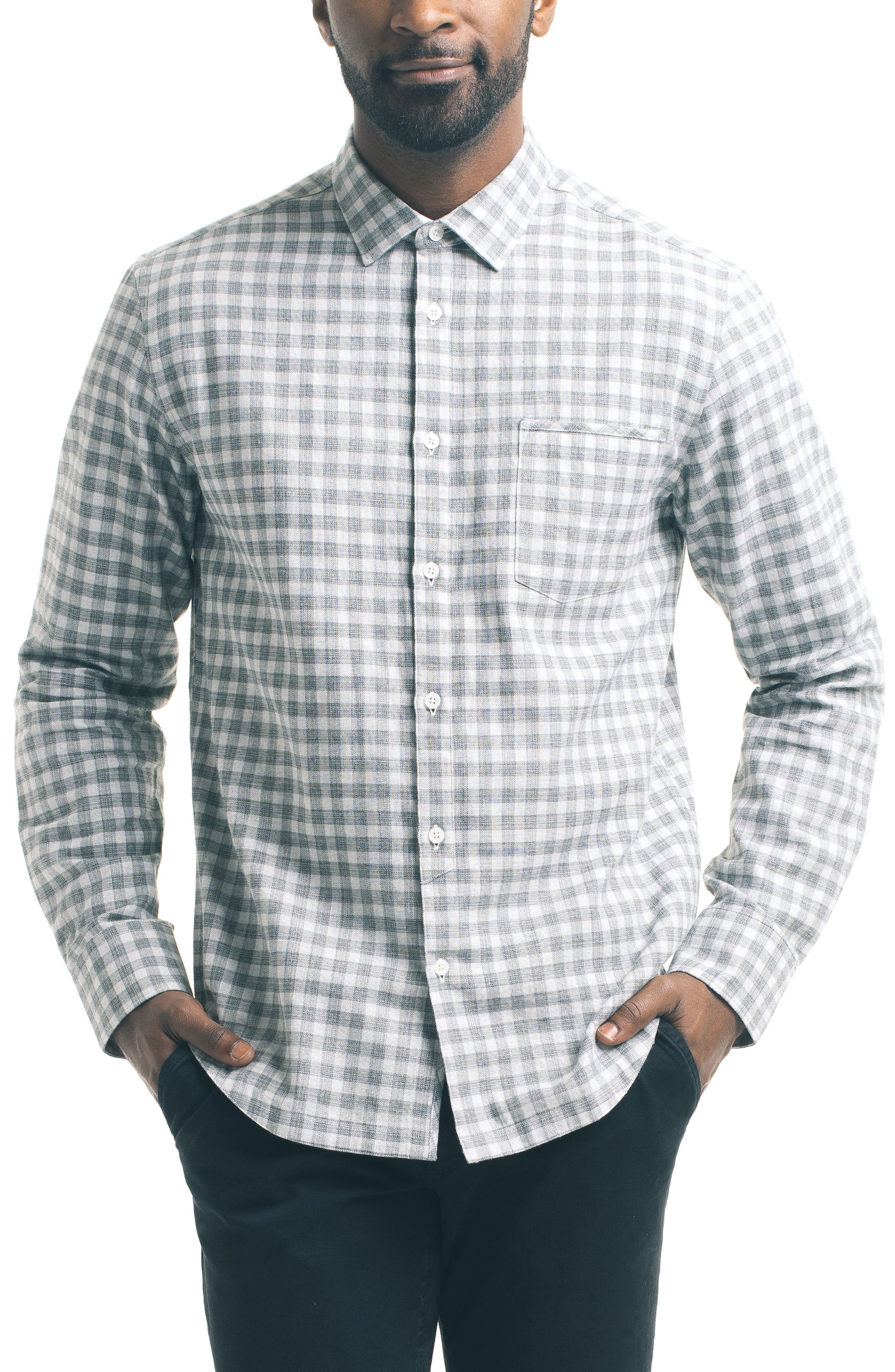 Alternate Image 1 Selected - Good Man Brand Slim Fit Check Sport Shirt