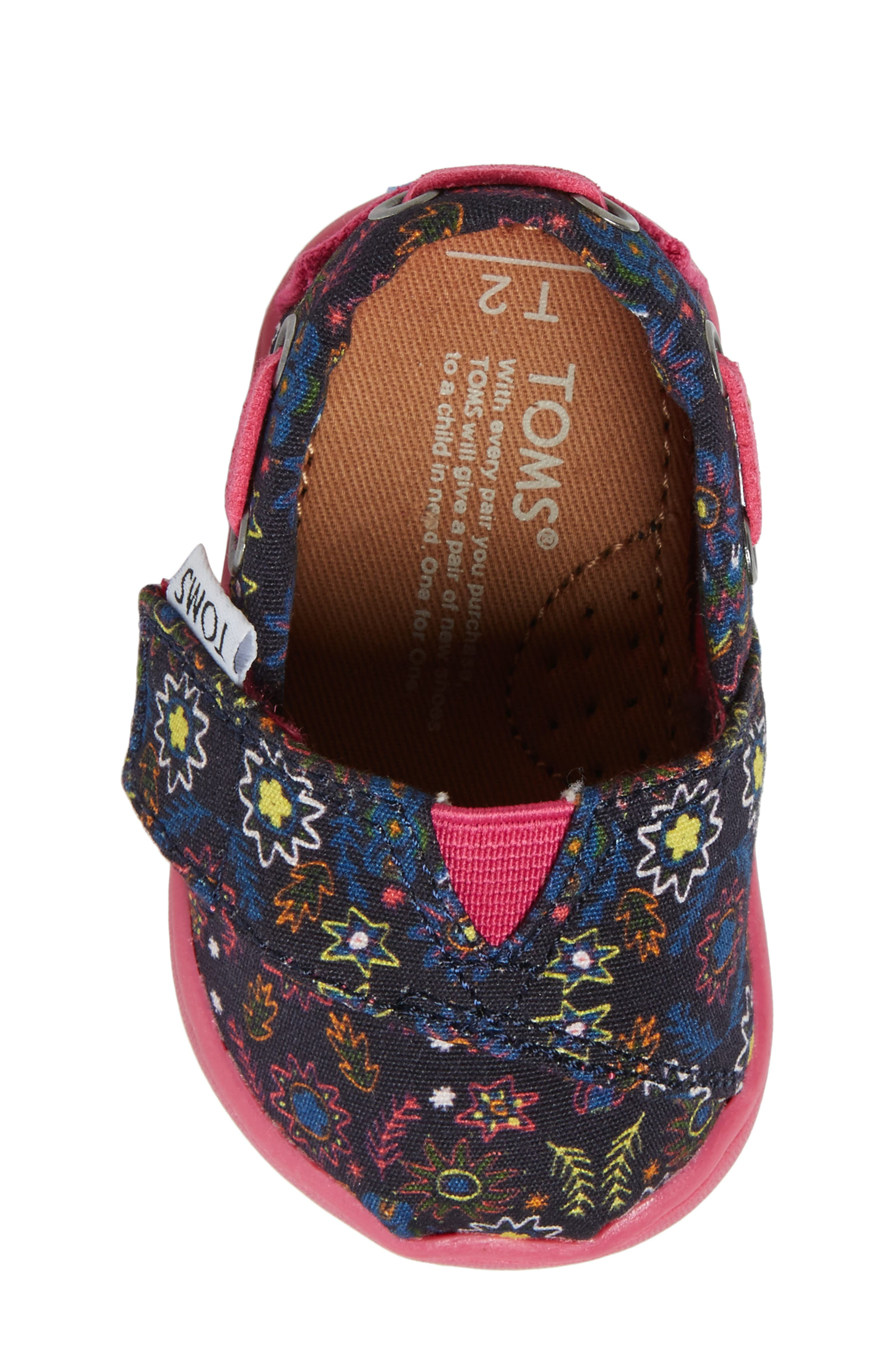 Bimini Print Slip-On,                             Alternate thumbnail 5, color,                             Navy Multi Canvas